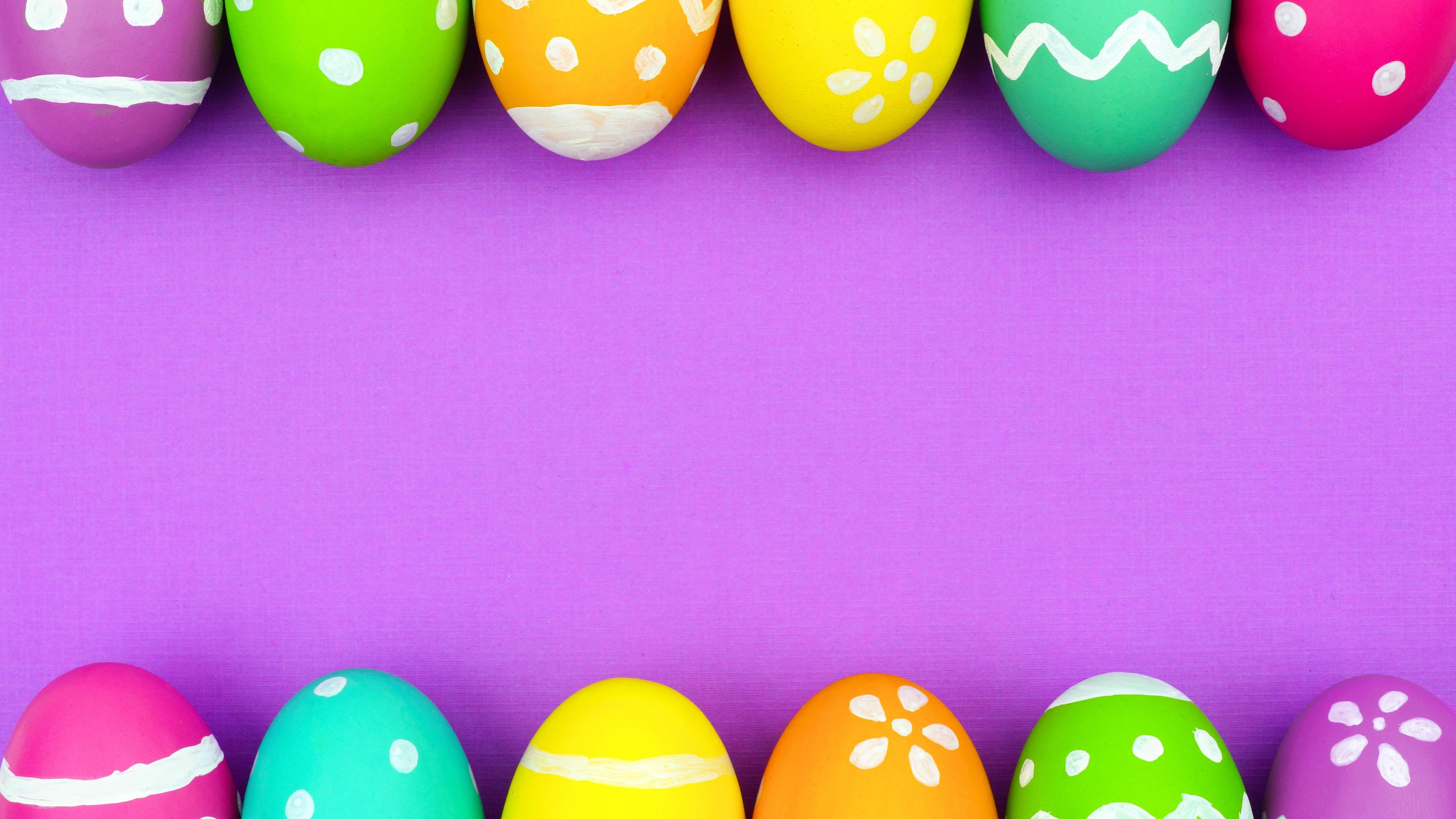 Fondos De Pantalla Coloridos Huevos De Pascua, Fondo Rosa