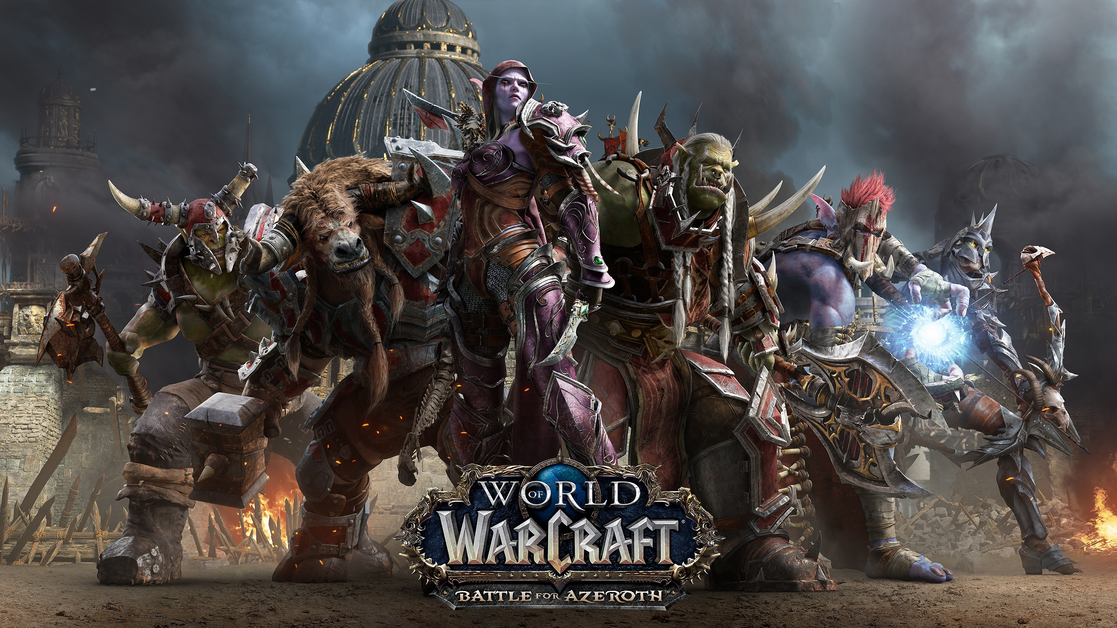 Wallpaper World Of Warcraft Battle For Azeroth Hot Game