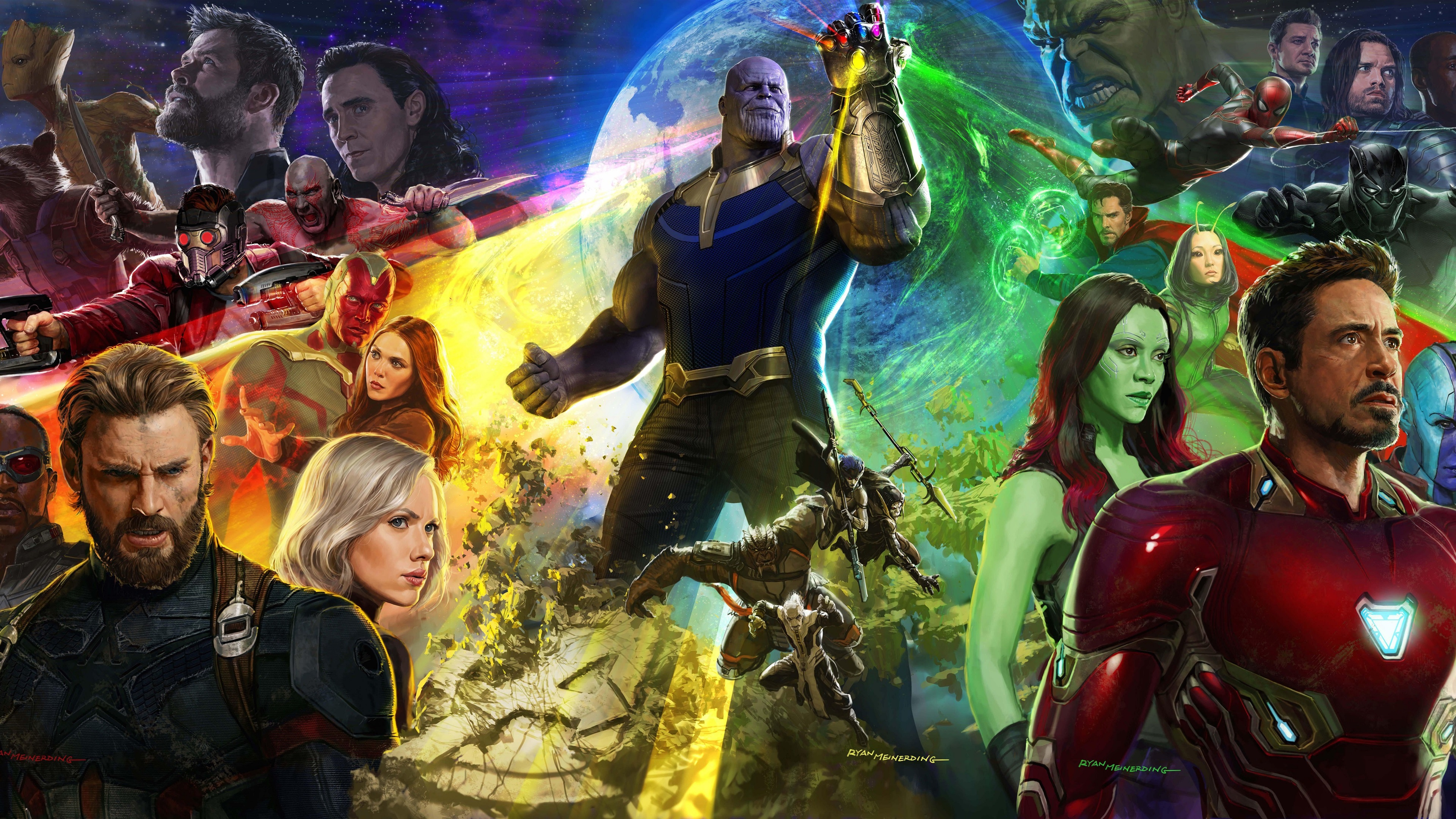 Wallpaper Avengers Infinity War Marvel Movie 2018 3840x2160 Uhd