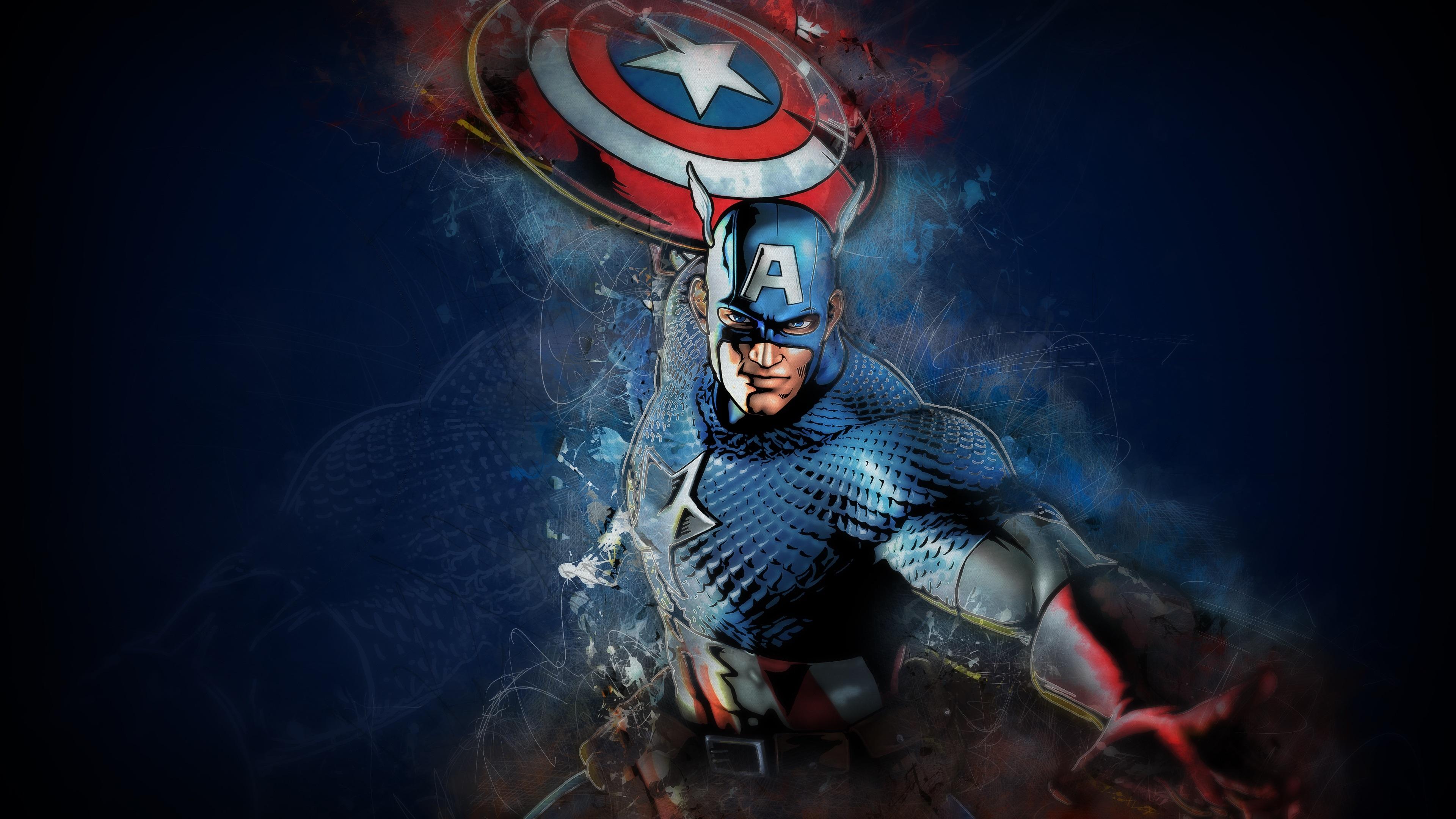 Papeis De Parede Capitao America Escudo Mascara Marvel Comics