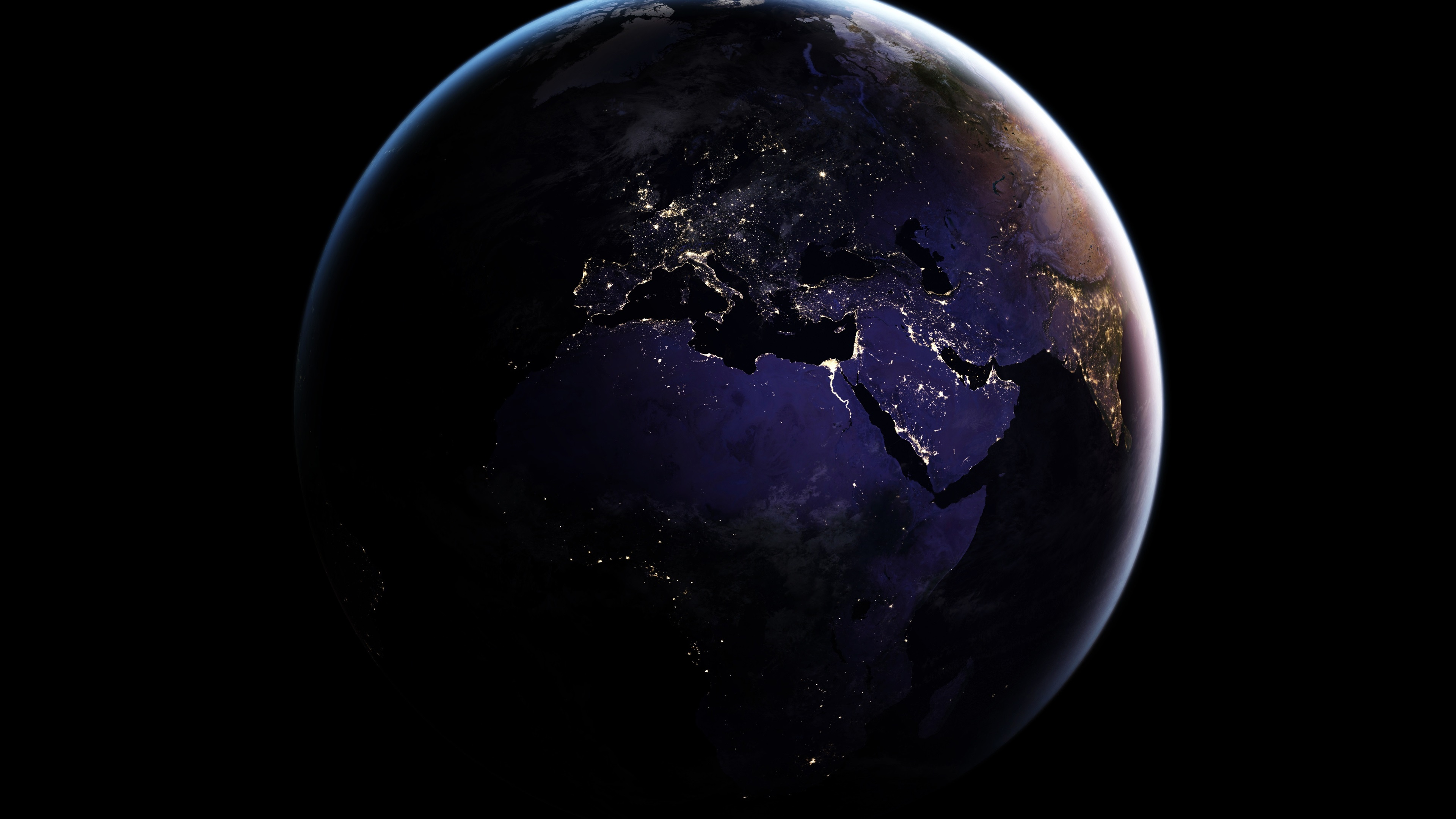 Wallpaper Earth Map Africa Space 3840x2160 Uhd 4k Picture Image