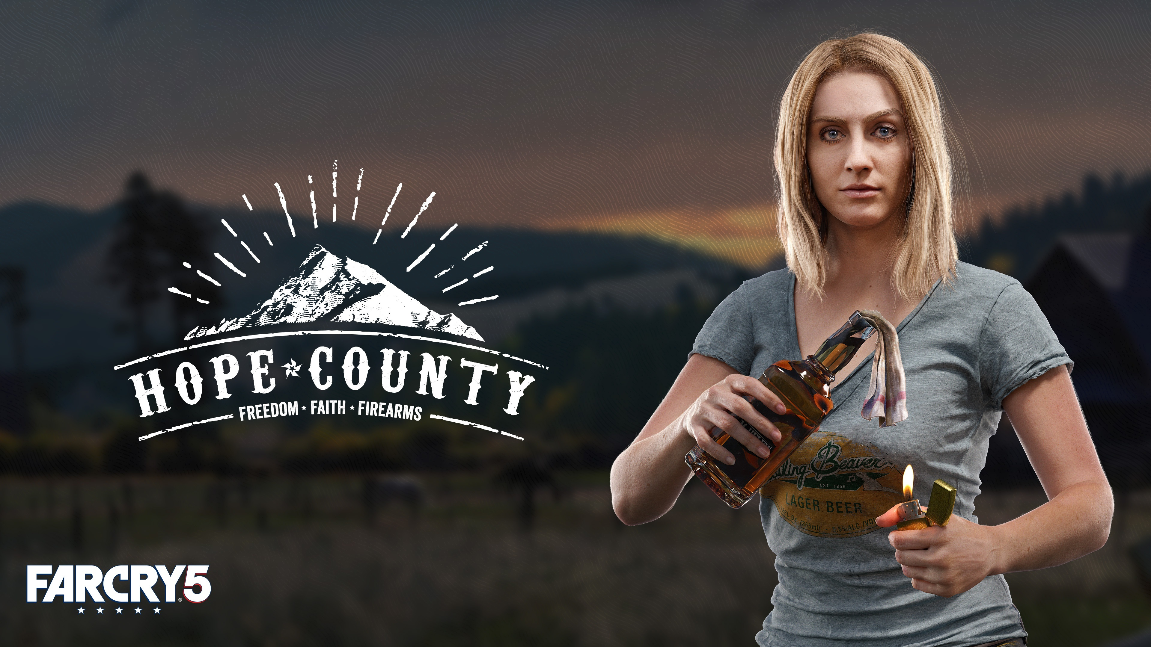Wallpaper Far Cry 5 Blonde Girl 3840x2160 Uhd 4k Picture Image
