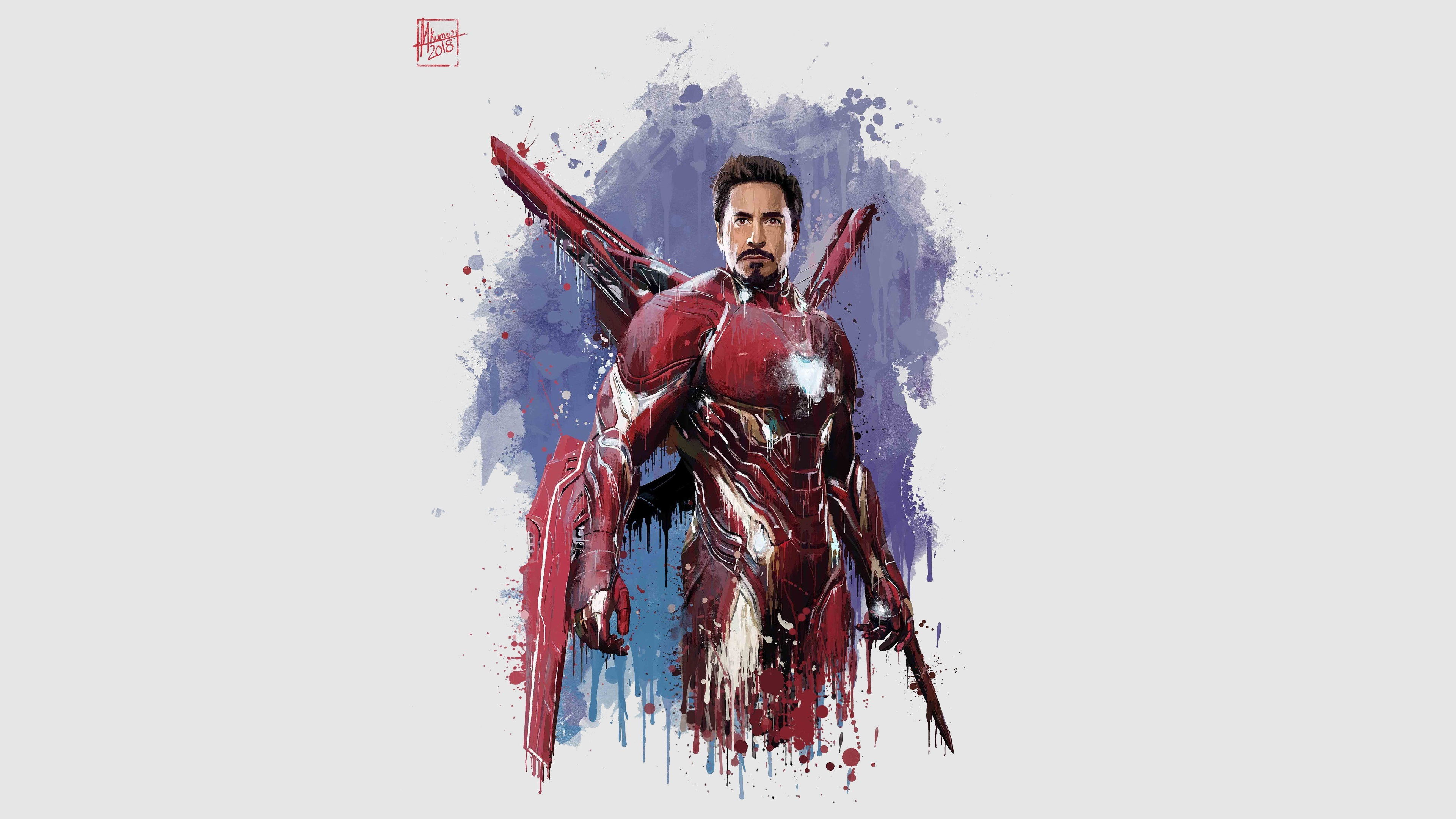 Wallpaper Iron Man The Avengers Infinity War Art Picture