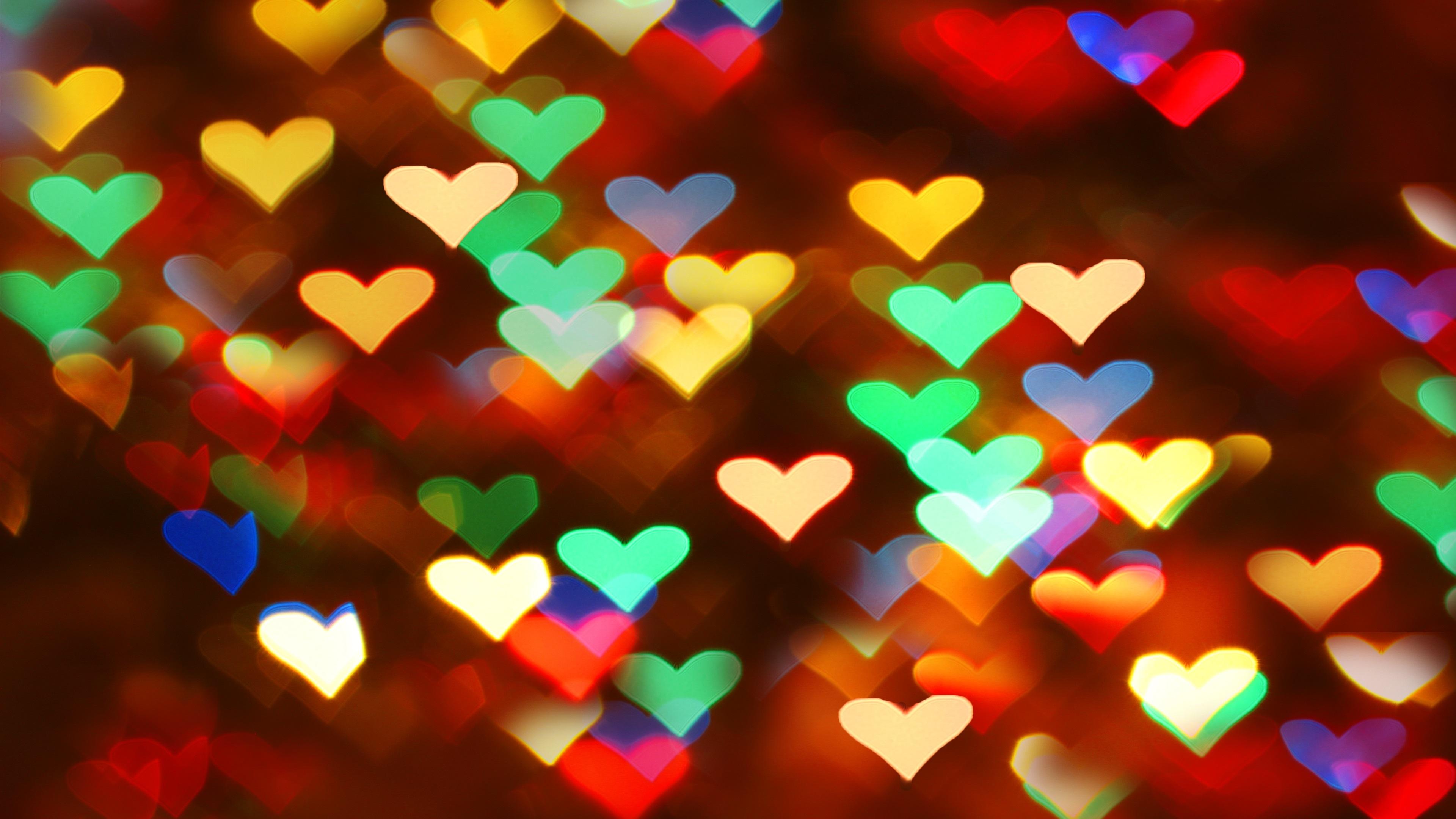 Fondos De Pantalla Muchos Corazones De Amor, Luces