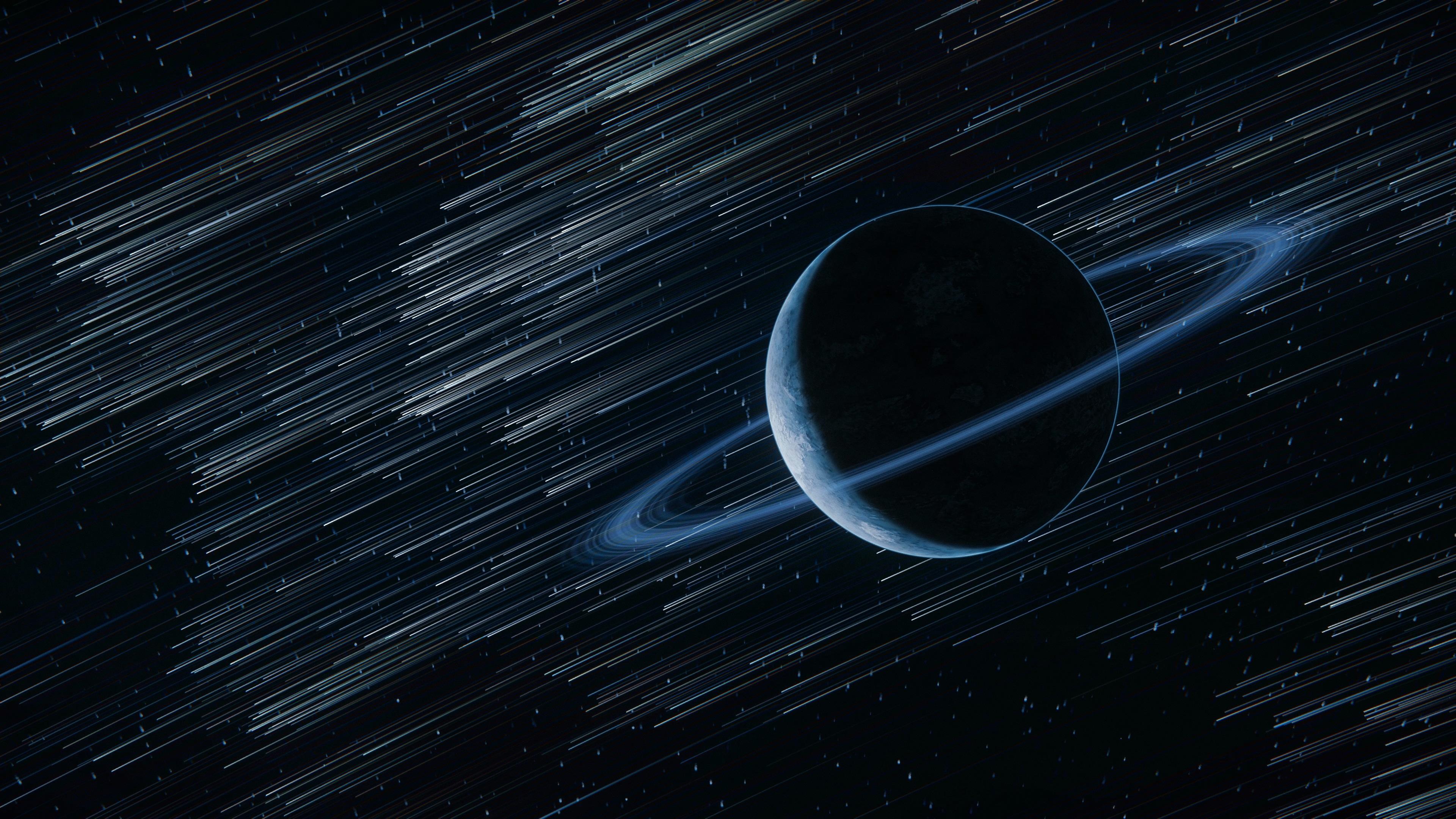 Fondos De Pantalla Planeta, Anillo, Estrellas, Espacio