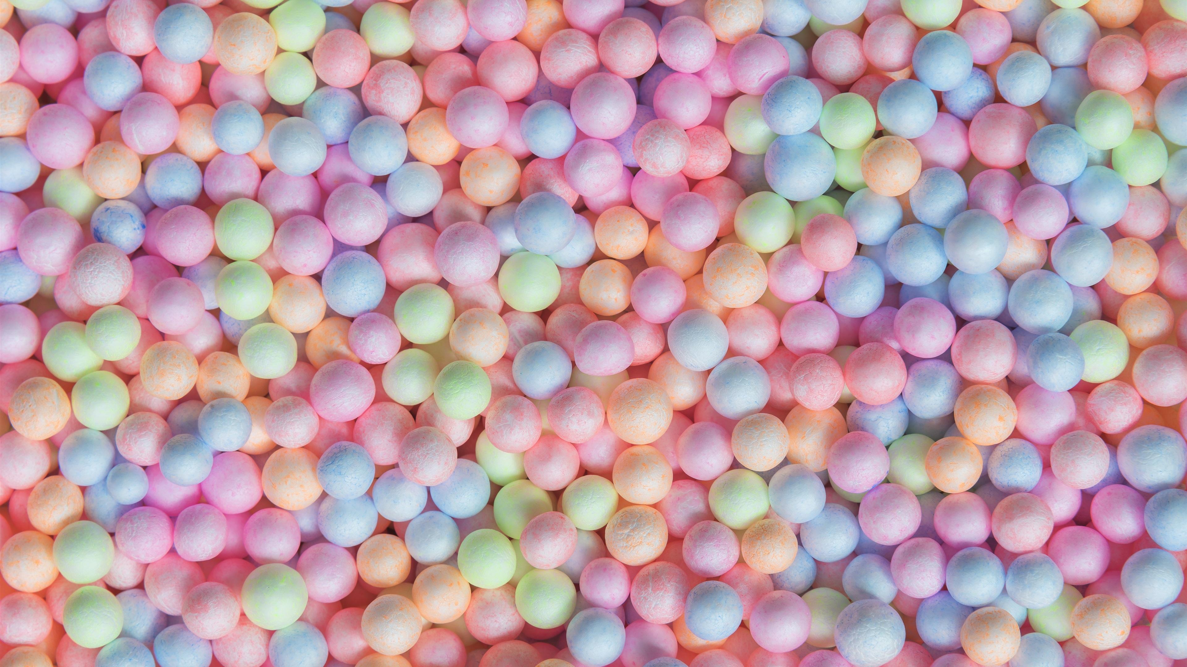 Fondos De Pantalla Bolas De Colores, Dulces 3840x2160 UHD