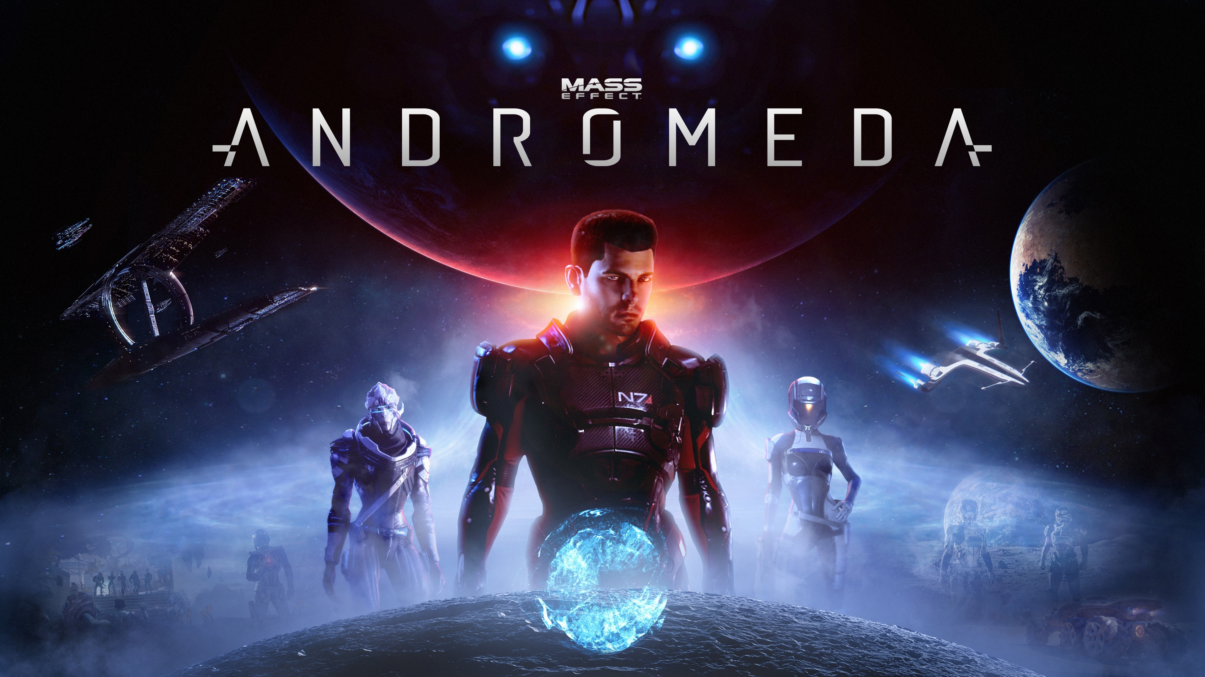 Wallpaper Mass Effect Andromeda Action Role Playing Game