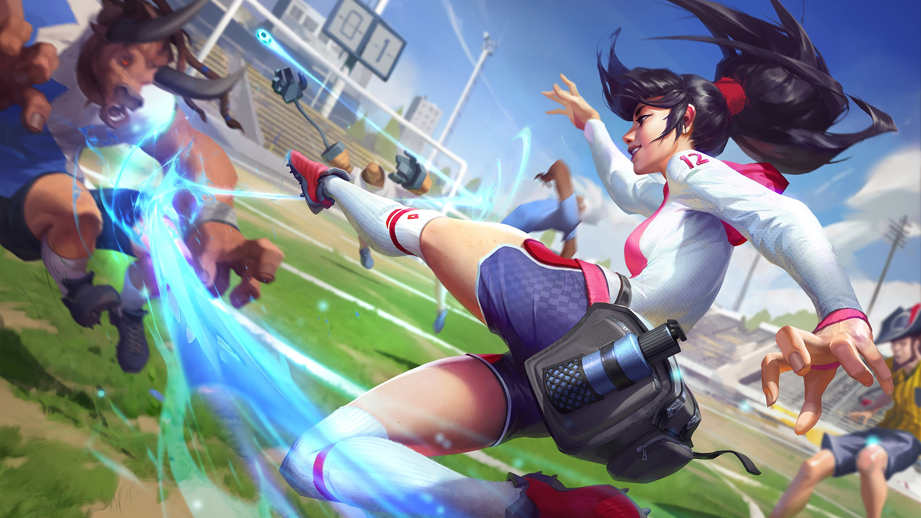 Wallpaper Akali Football League Of Legends 3840x2160 Uhd 4k