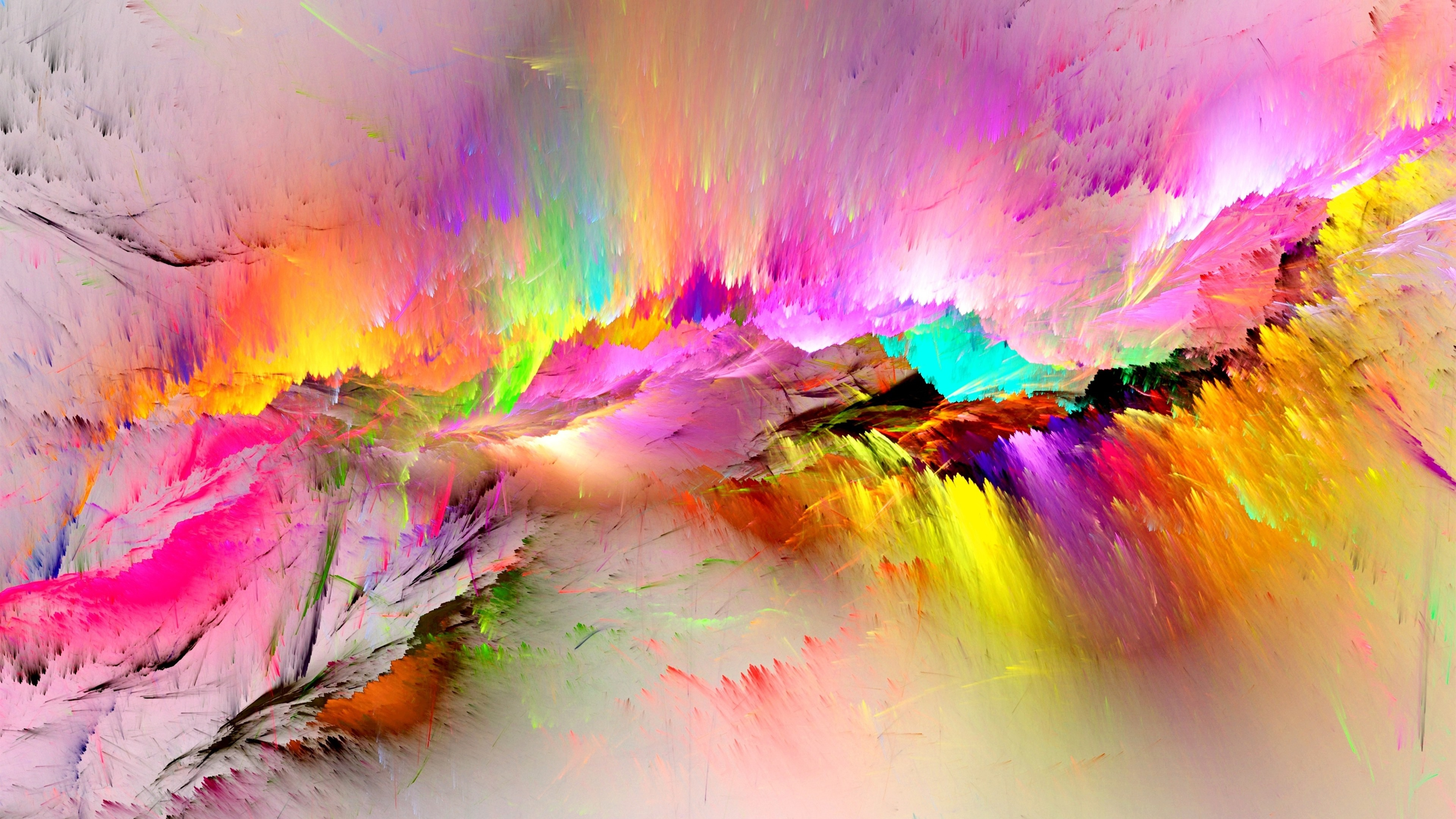 Paint Rainbow Girl Wallpapers: Fondos De Pantalla Pintura Colorida, Arco Iris, Abstracto