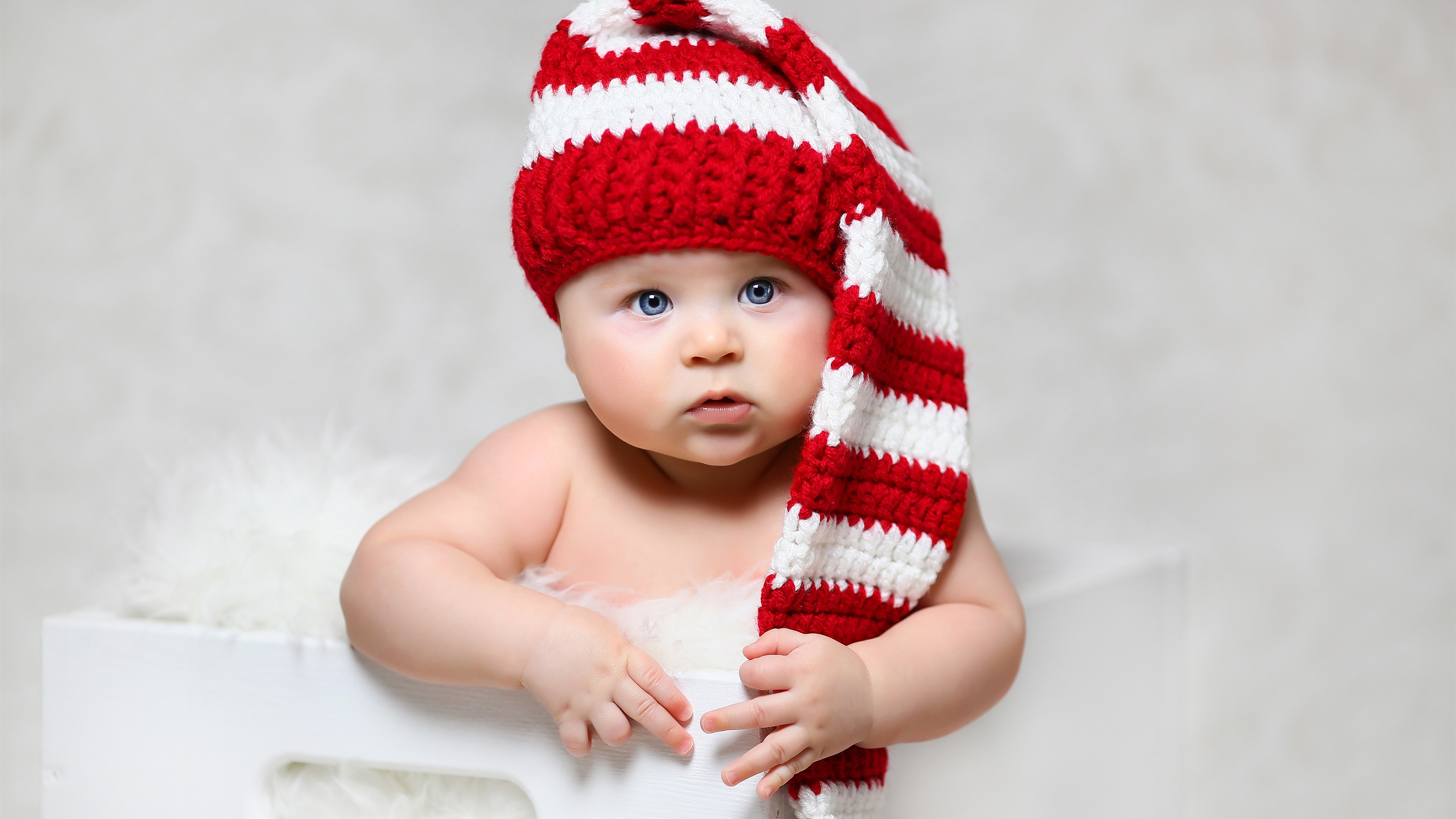 Cute Baby With Hat Wallpapers: Wallpaper Cute Baby, Blue Eyes, Hat 3840x2160 UHD 4K