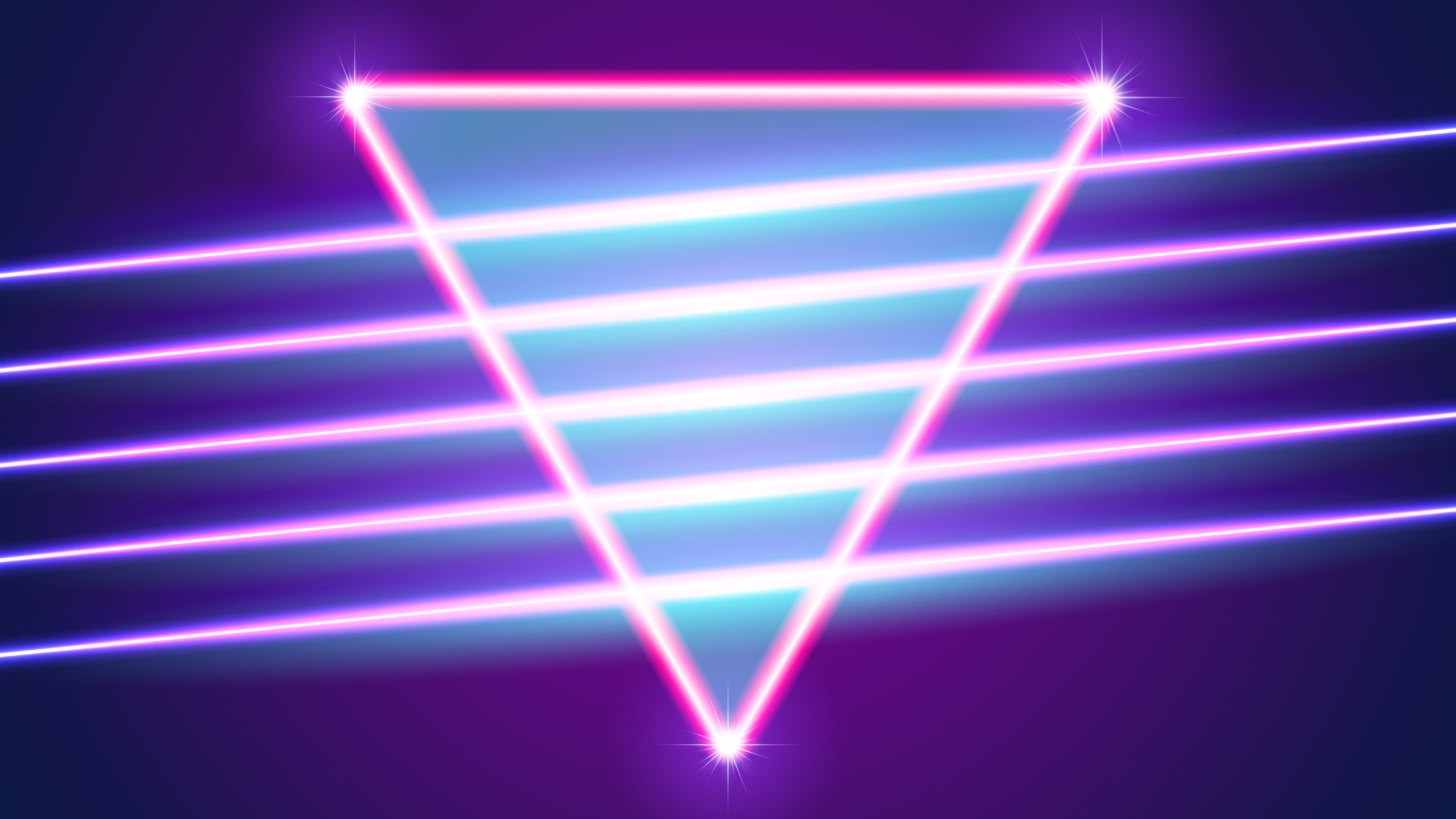 Wallpaper Neon Triangle Abstract Light 3840x2160 Uhd 4k