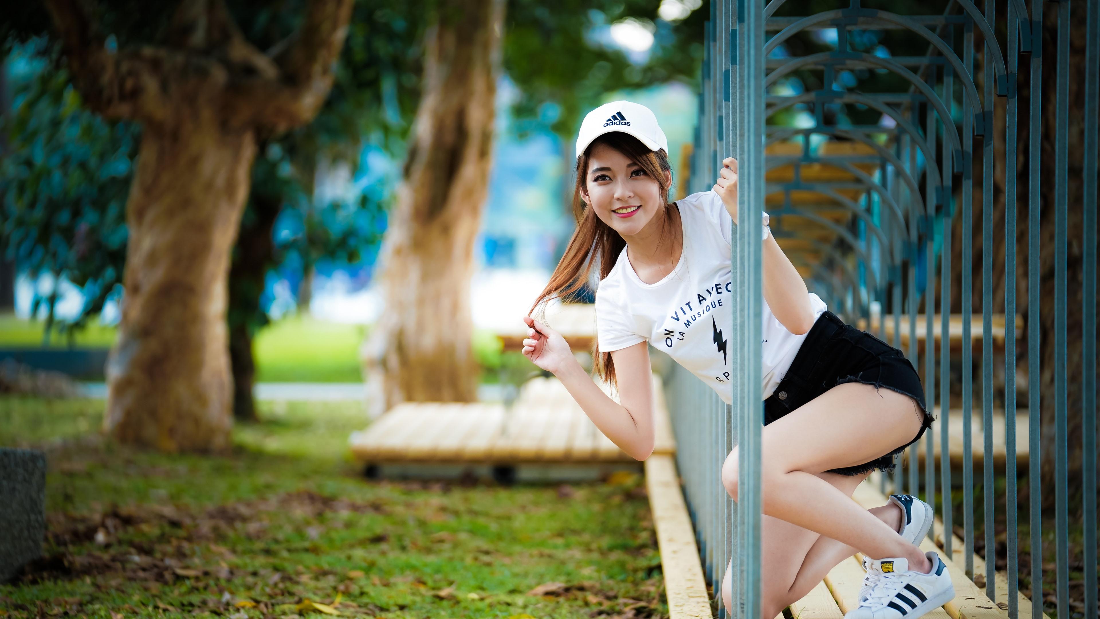 Wallpaper Smile Asian girl, channel 3840x2160 UHD 4K