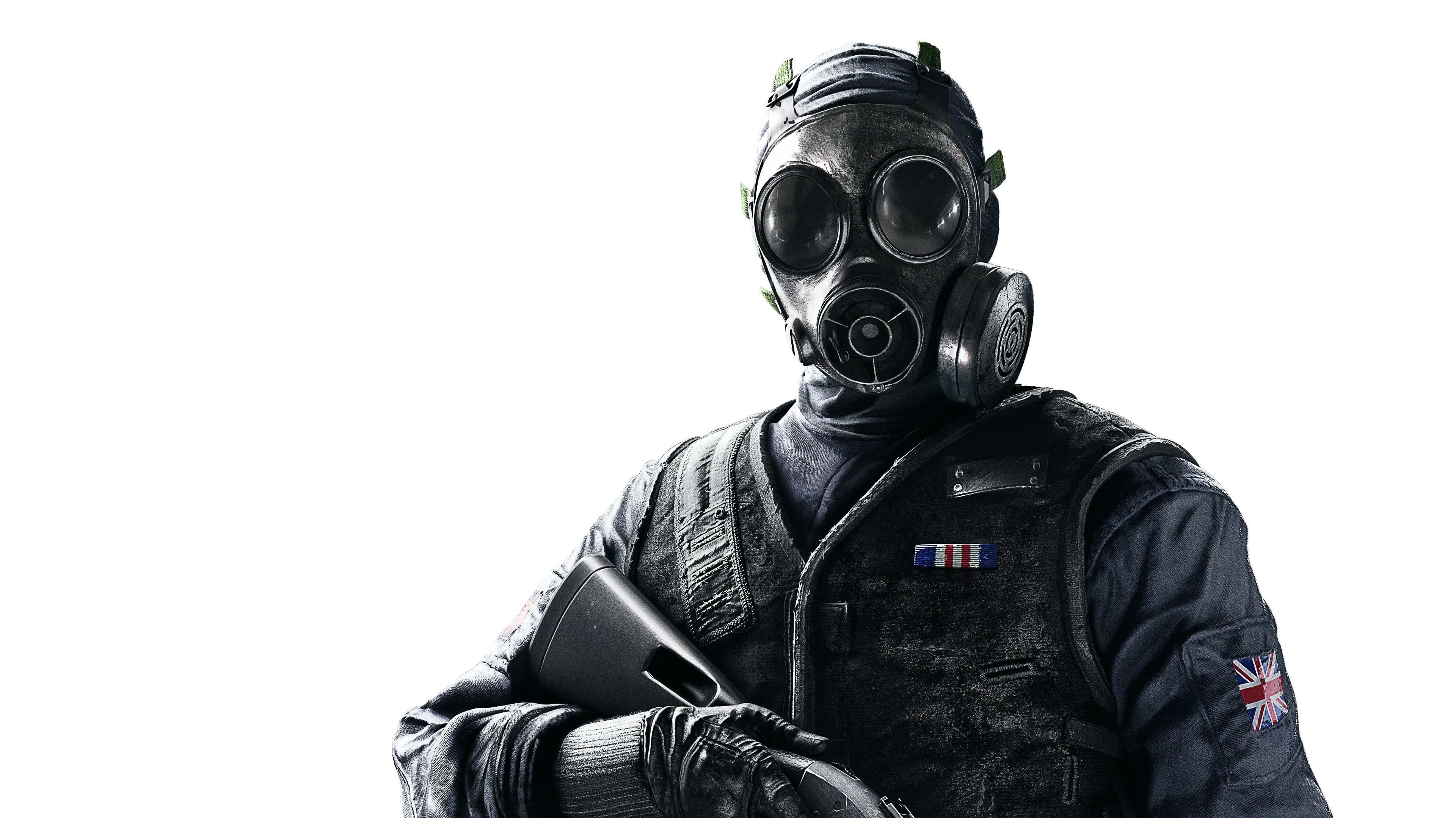 Wallpaper Rainbow Six Siege Soldier Gas Mask 3840x2160 Uhd