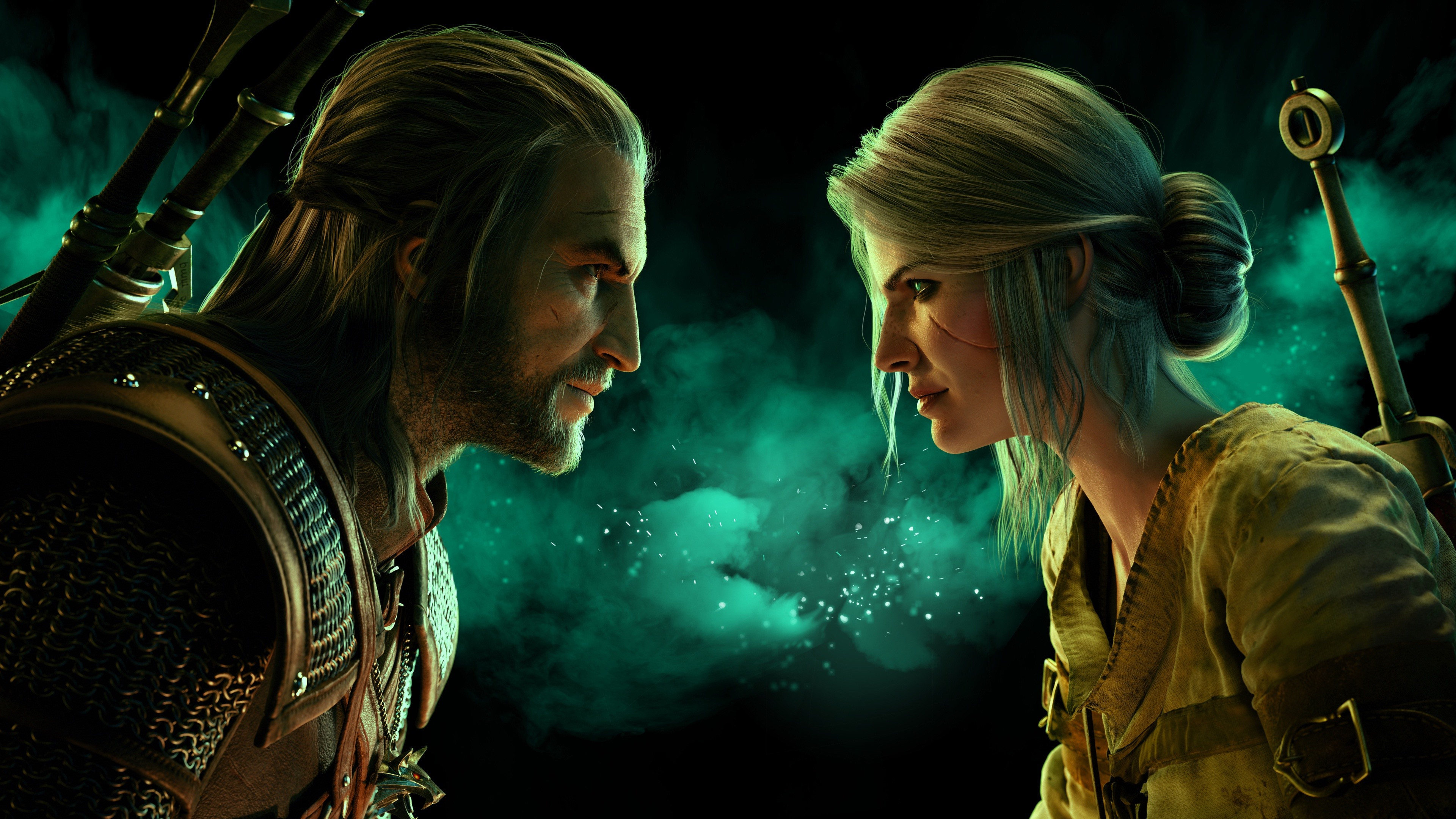 The Witcher 3 Wild Hunt Man And Woman Face To Face