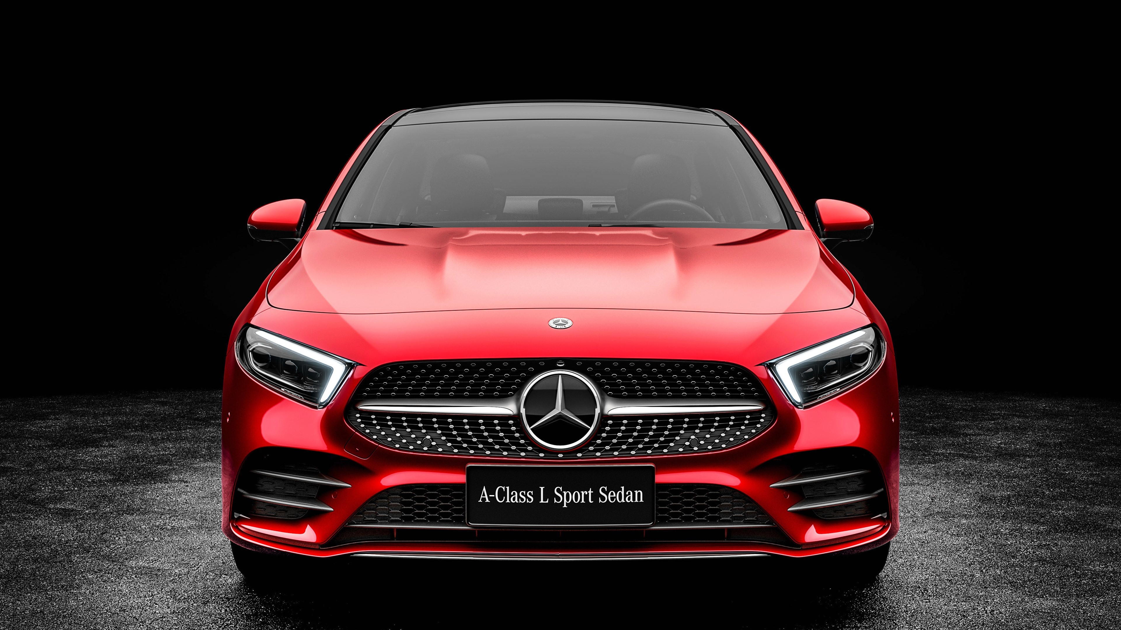 Wallpaper 2019 Mercedes-Benz A-Class A200 Red Car Front