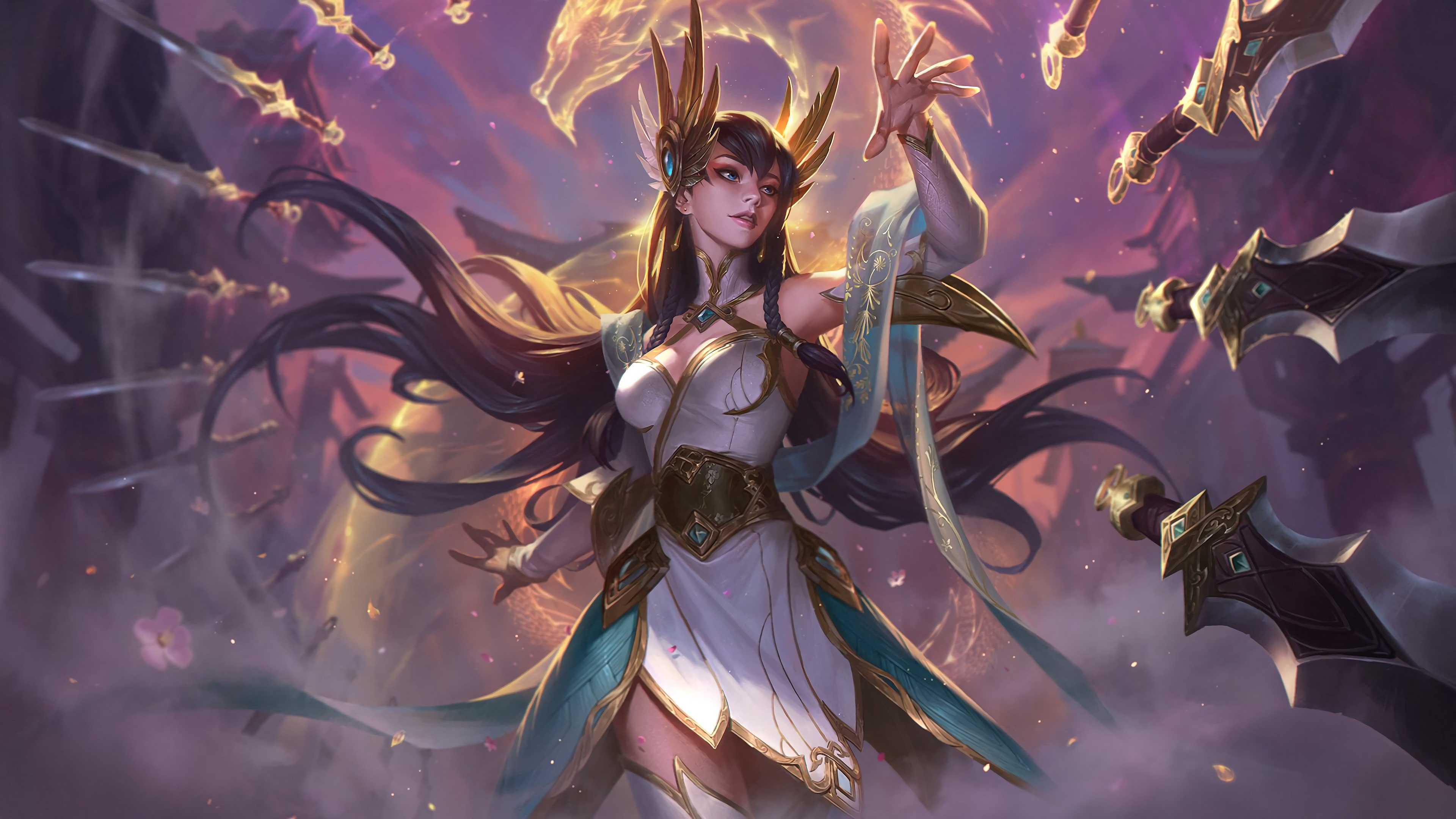 Wallpaper League Of Legends Beautiful Girl Hand Sword 3840x2160 Uhd 4k Picture Image