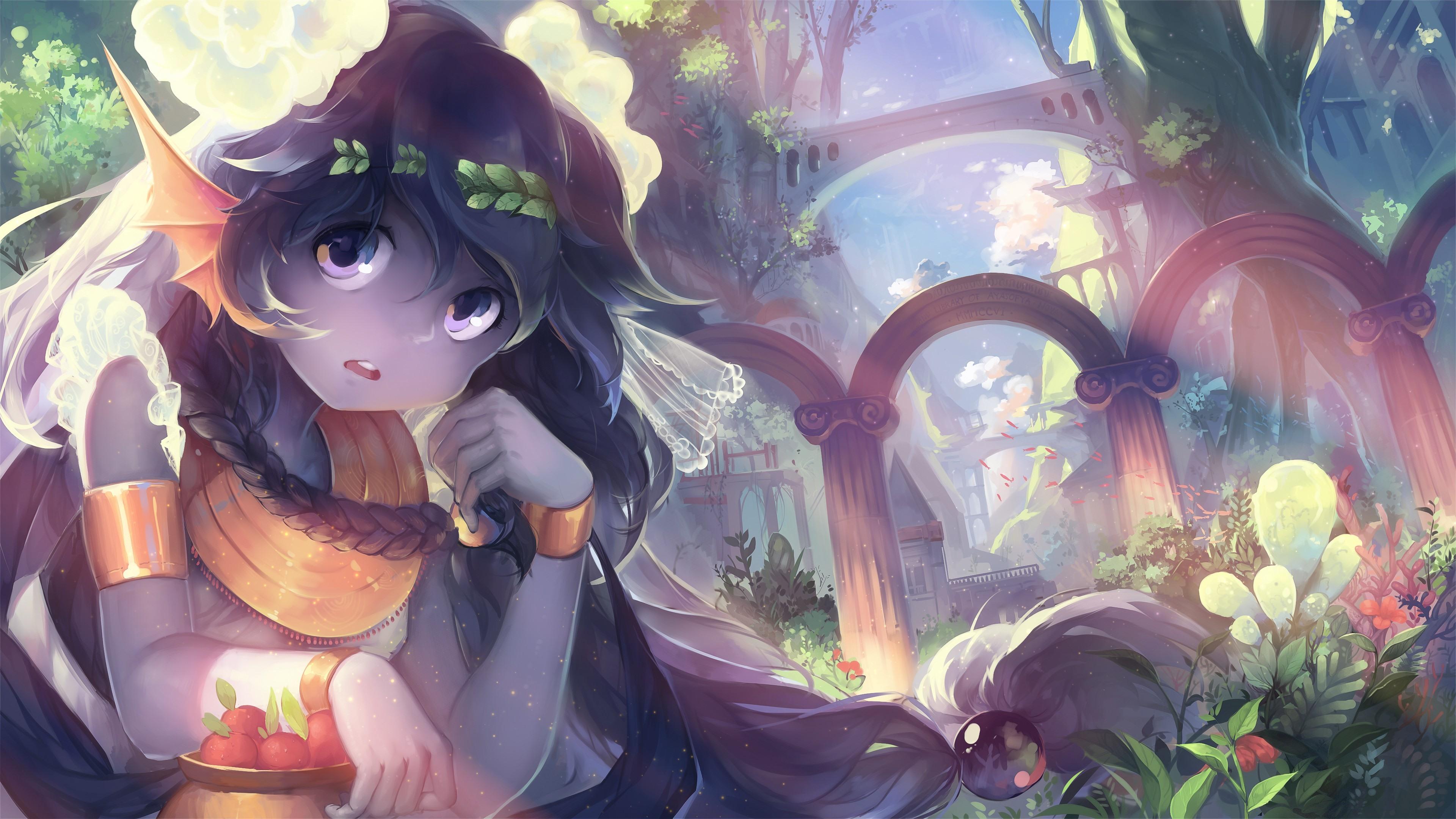 壁紙 アニメの女の子 ファンタジーの世界 3840x2160 Uhd 4k 無料のデスクトップの背景 画像