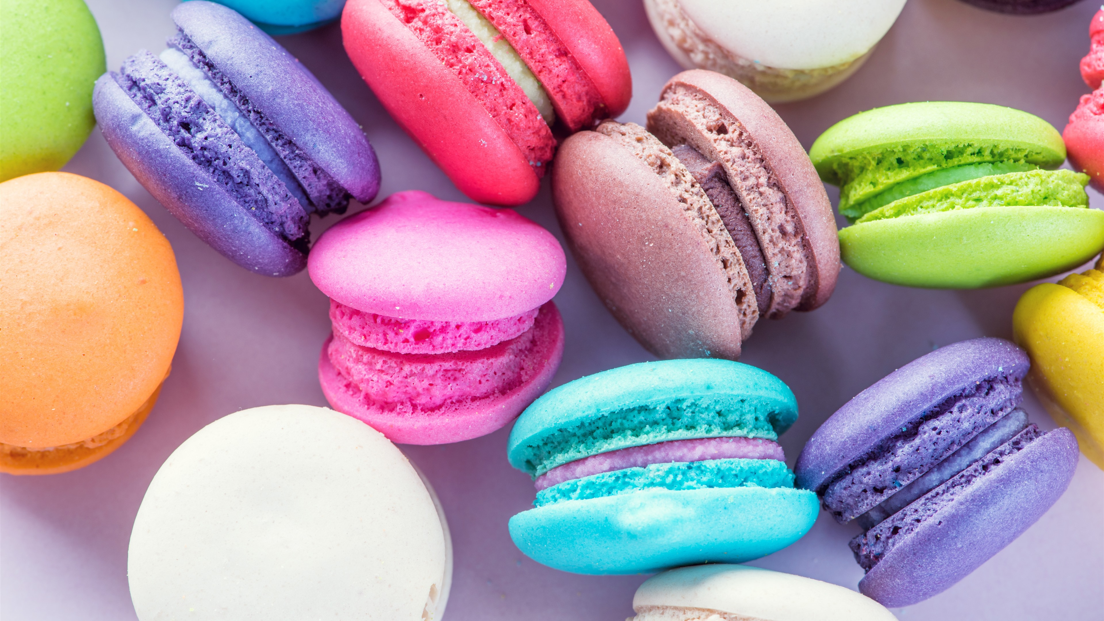 Colorful Food Wallpaper Free Download: Wallpaper Colorful Macaron, Cakes, Sweet Food 5120x2880