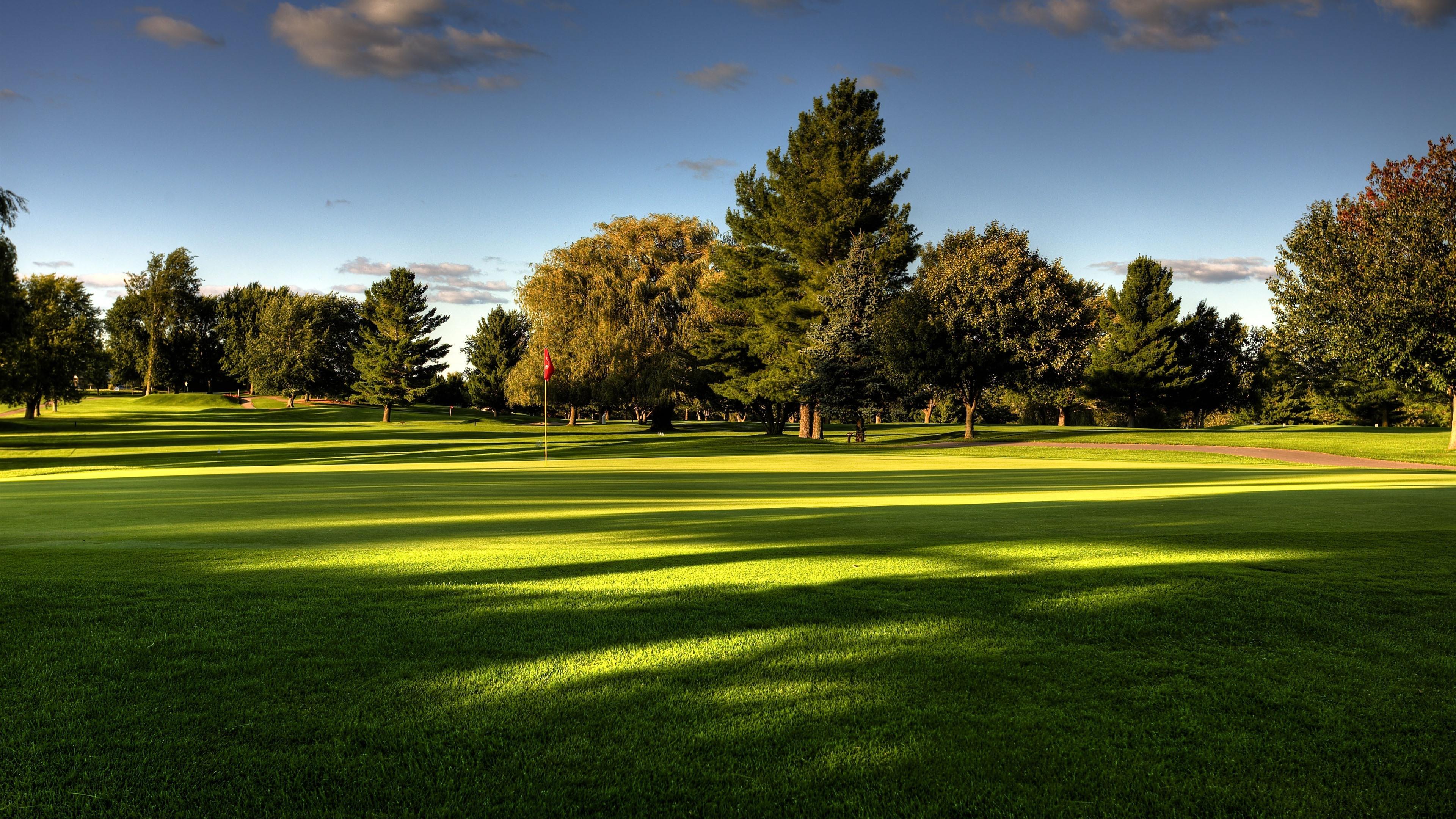 Fondos De Pantalla Césped Campo De Golf árboles 3840x2160
