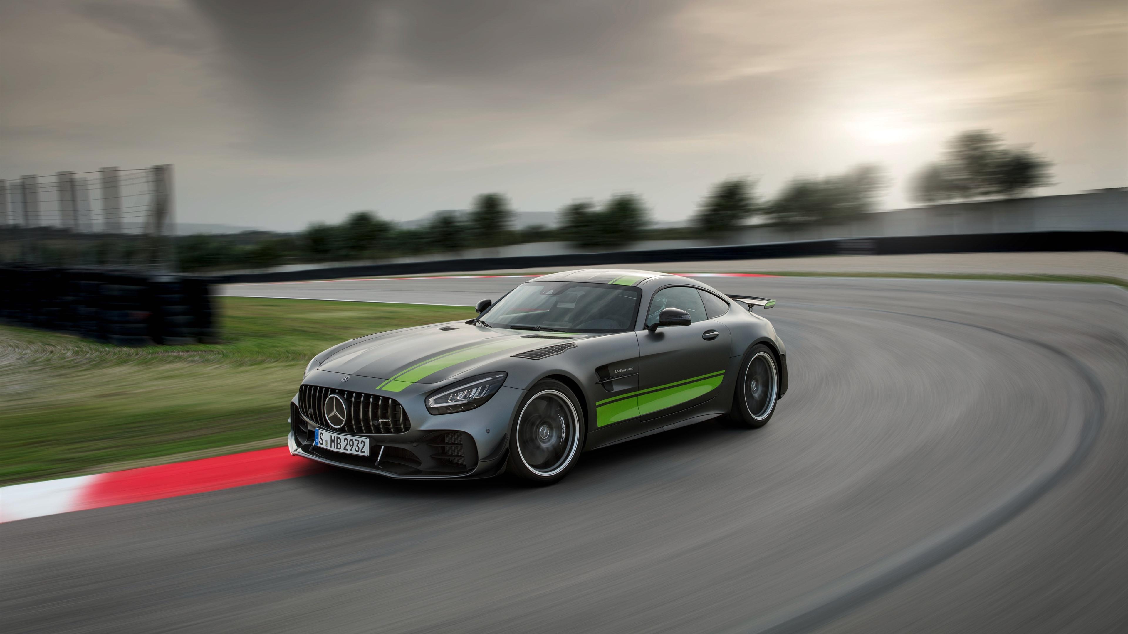 Mercedes Benz Amg Gt R Pro Graue Auto Geschwindigkeit