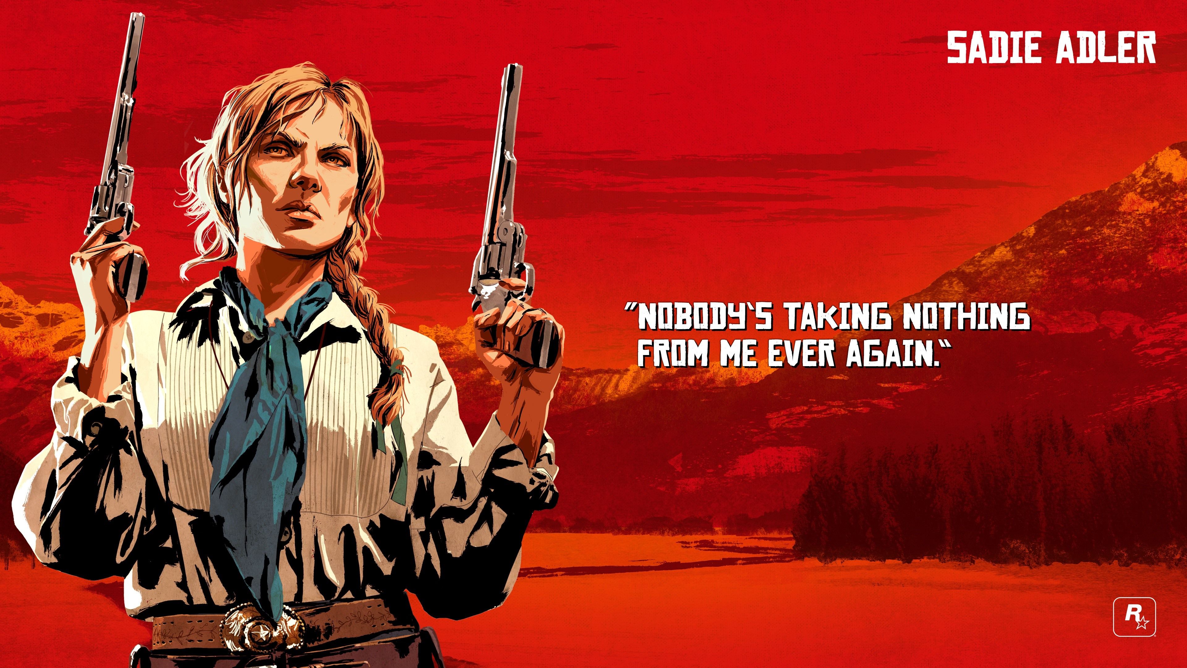 Wallpaper Red Dead Redemption 2 Guns 3840x2160 Uhd 4k Picture Image