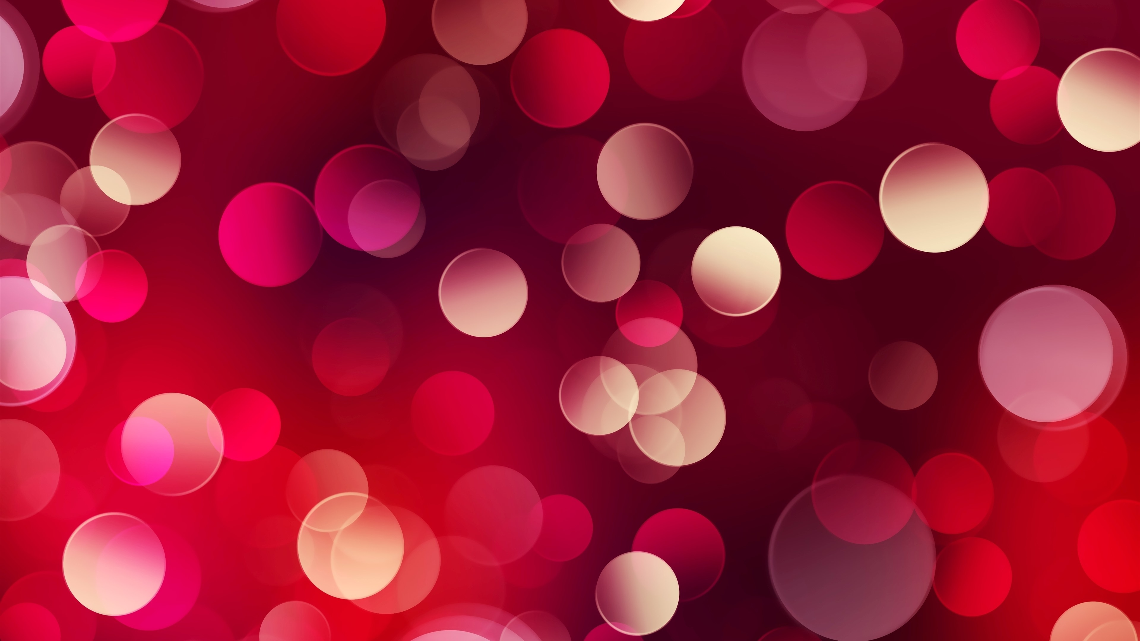 Wallpaper Red Light Circles Abstract Background 3840x2160