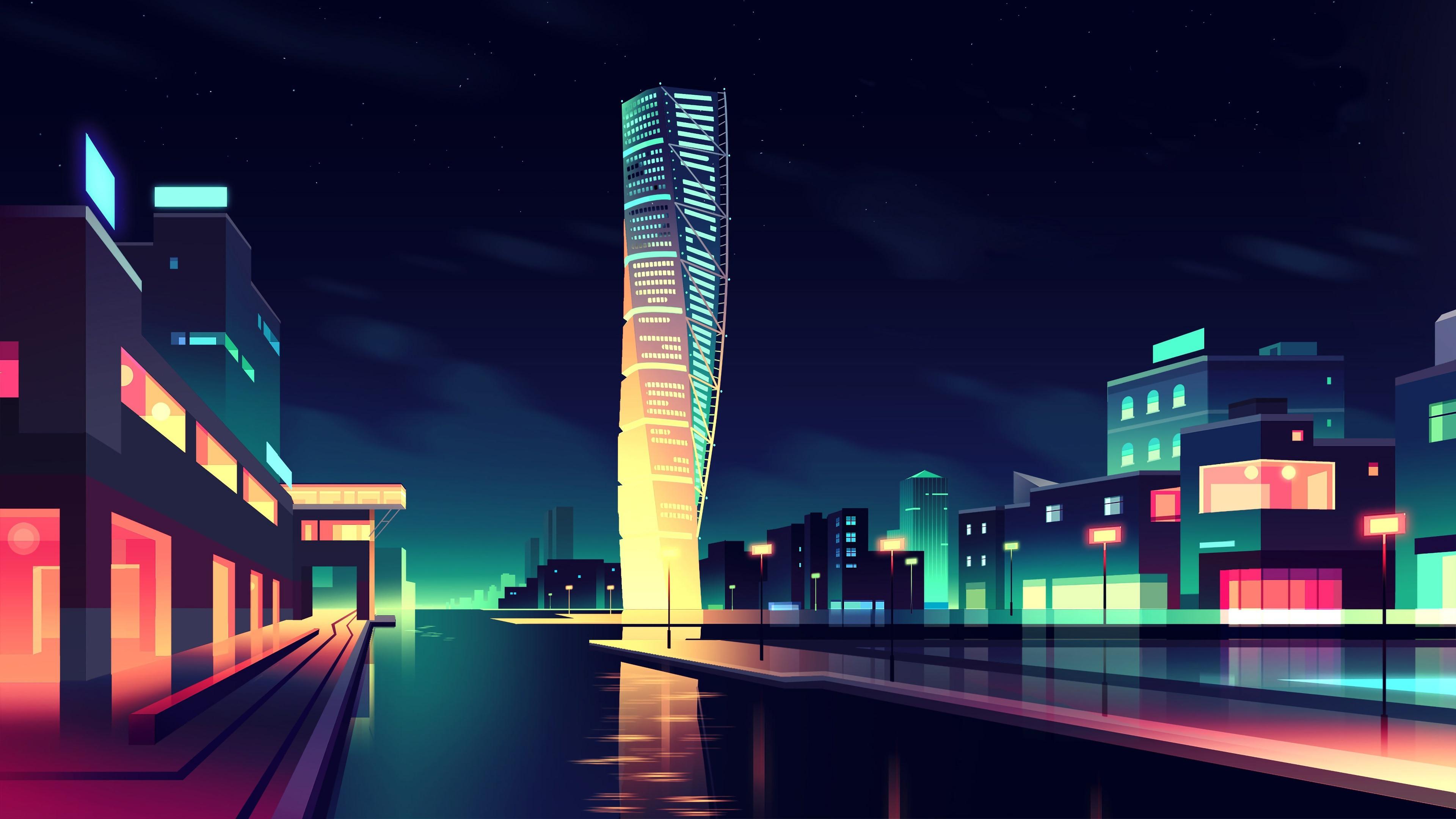 Wallpaper Vector picture, city ...