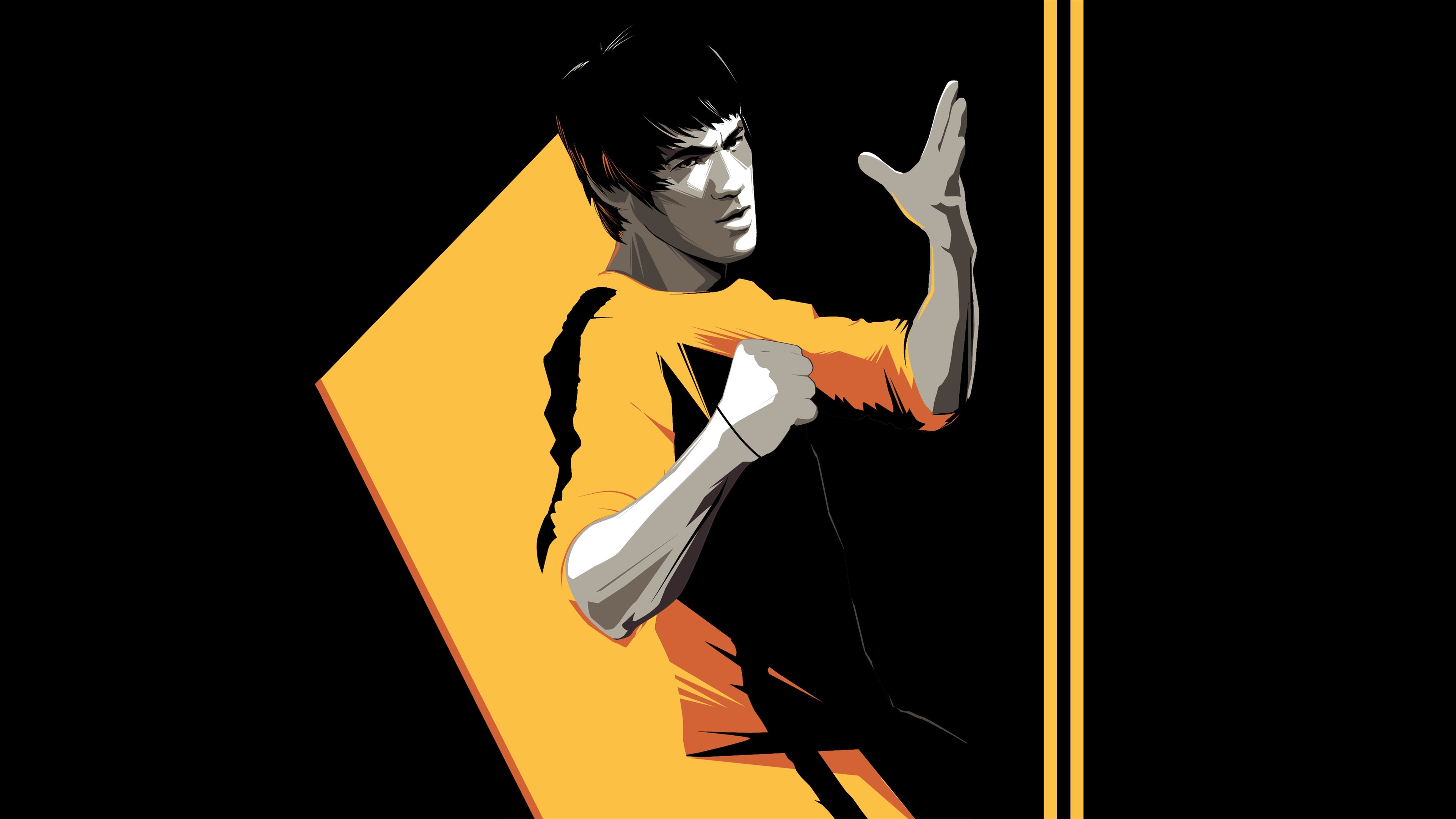 Wallpaper Bruce Lee Kung Fu Star Art Picture 3840x2160 Uhd 4k Picture Image