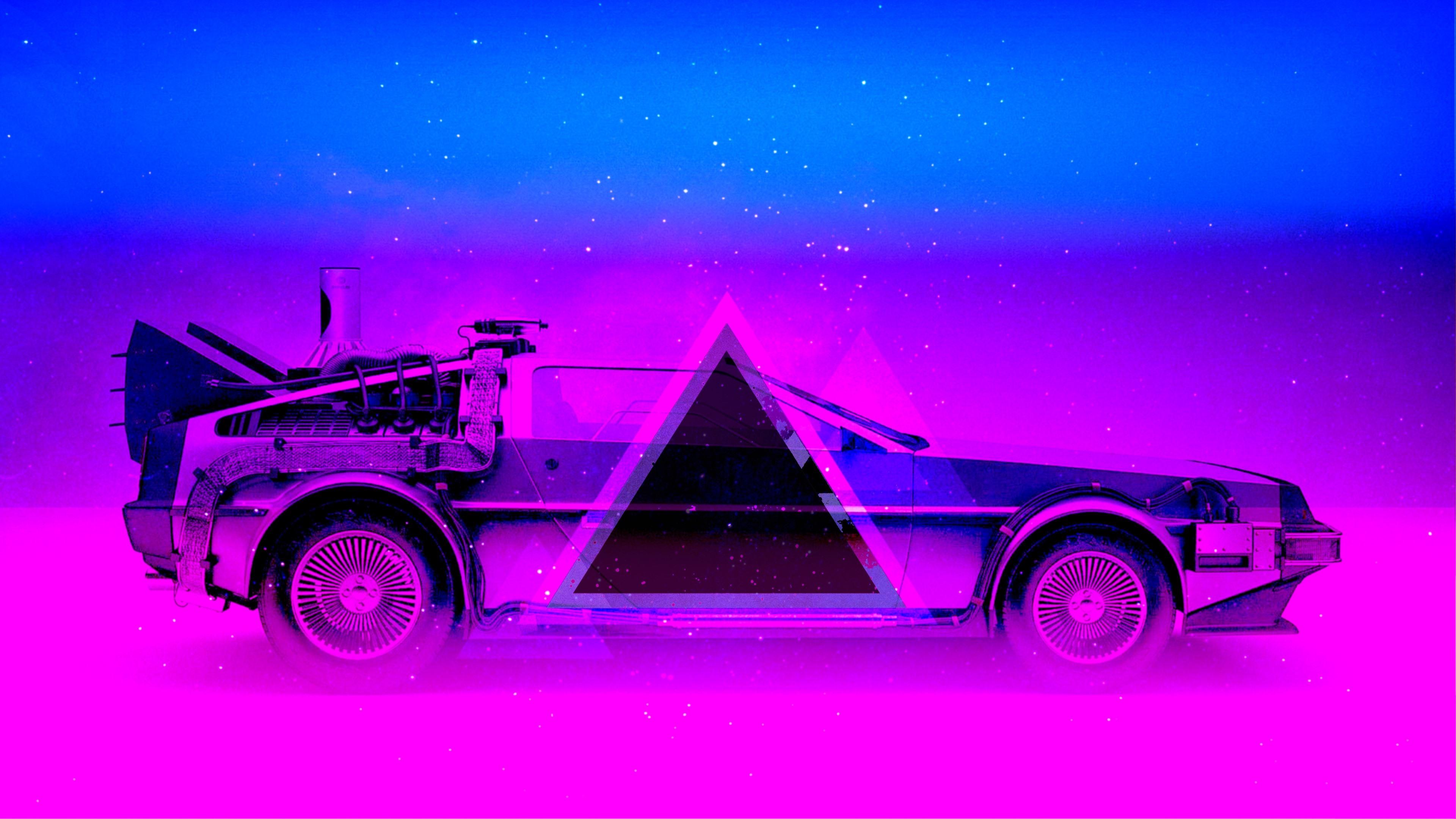 Wallpaper Car Blue And Purple Art Design 3840x2160 Uhd 4k