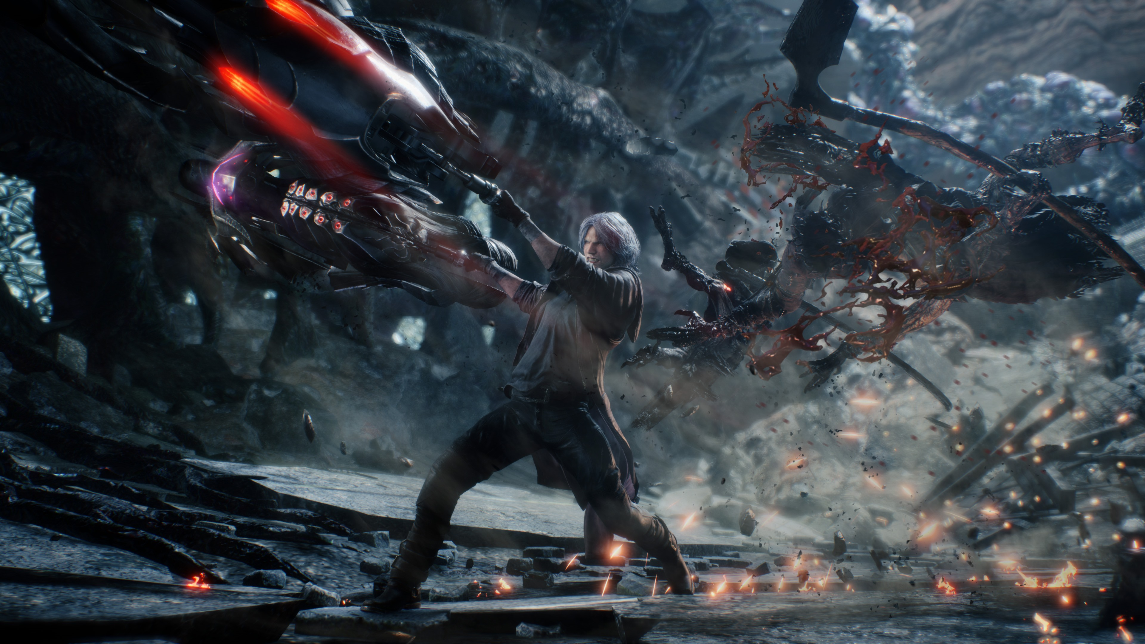 Wallpaper Devil May Cry 5 Fight 3840x2160 Uhd 4k Picture Image