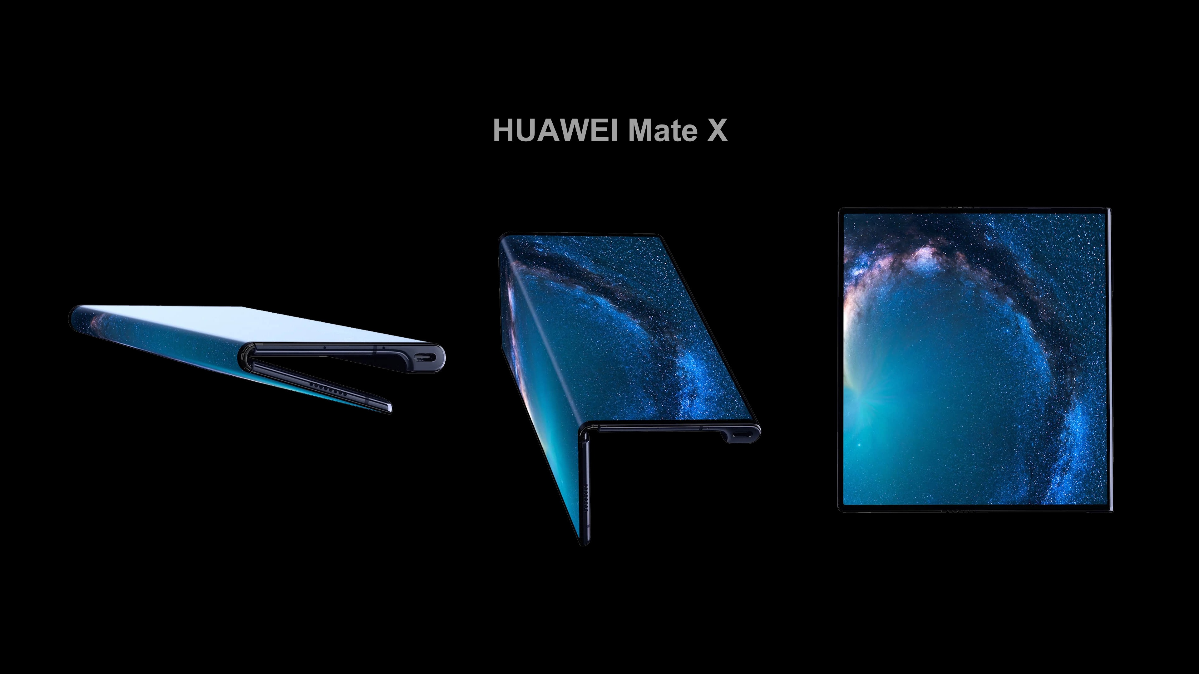 Wallpaper Huawei Mate X 5g Smartphone Can Bend And Stretch