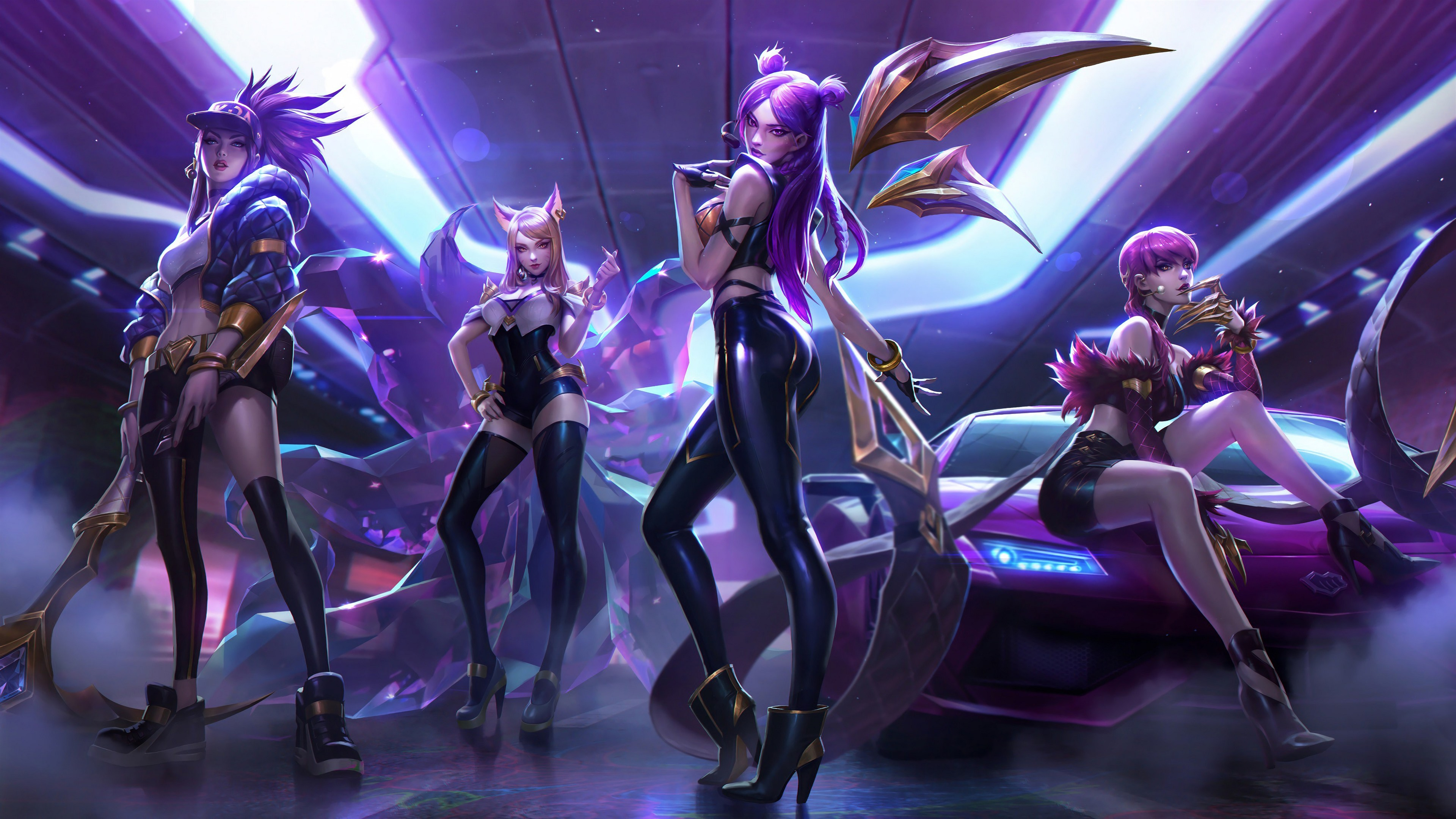 Wallpaper League Of Legend Four Beautiful Girls 3840x2160 Uhd 4k Picture Image