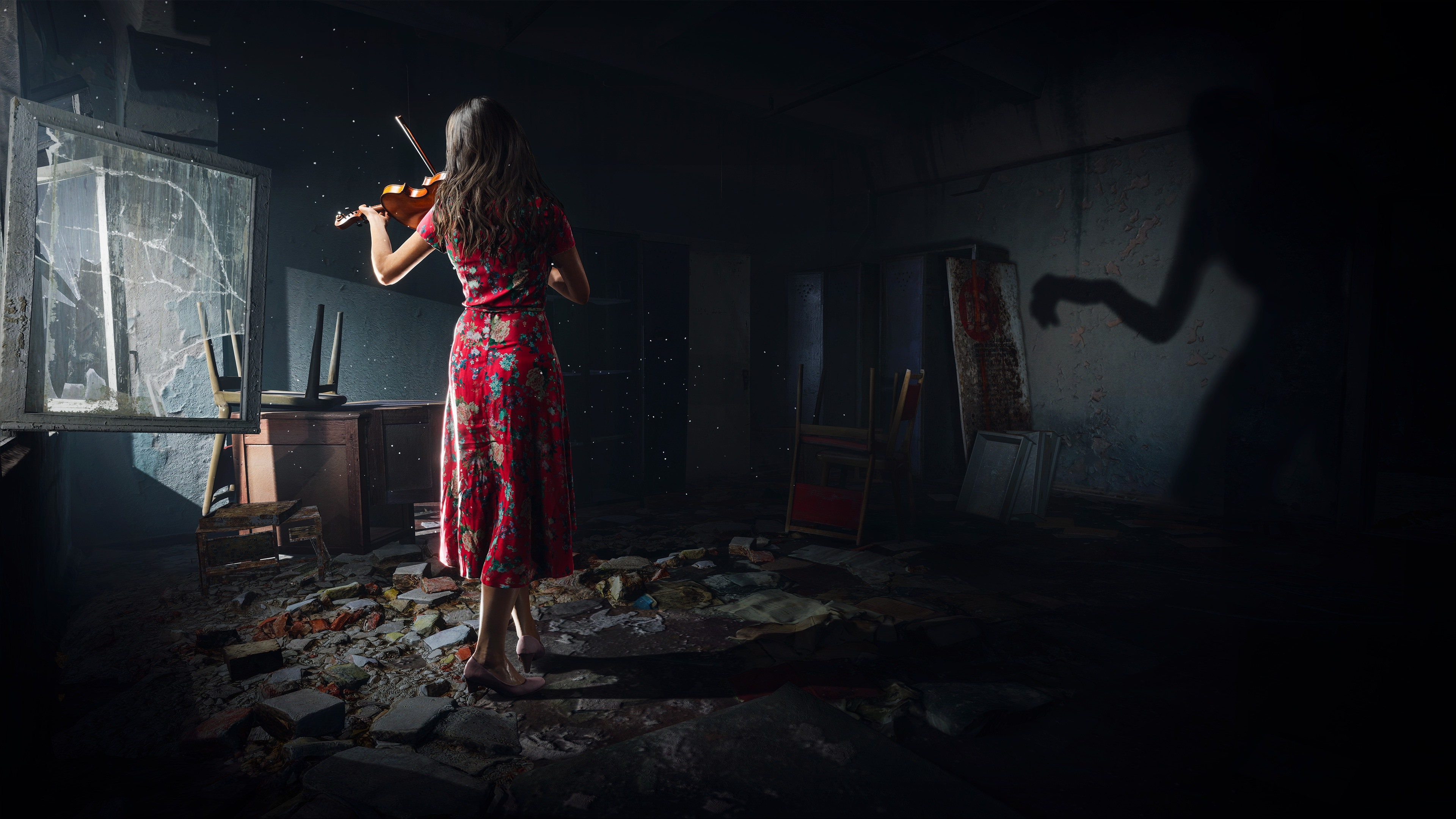 Wallpaper Chernobylite 2019 Pc Game Girl Back View Violin 3840x2160 Uhd 4k Picture Image