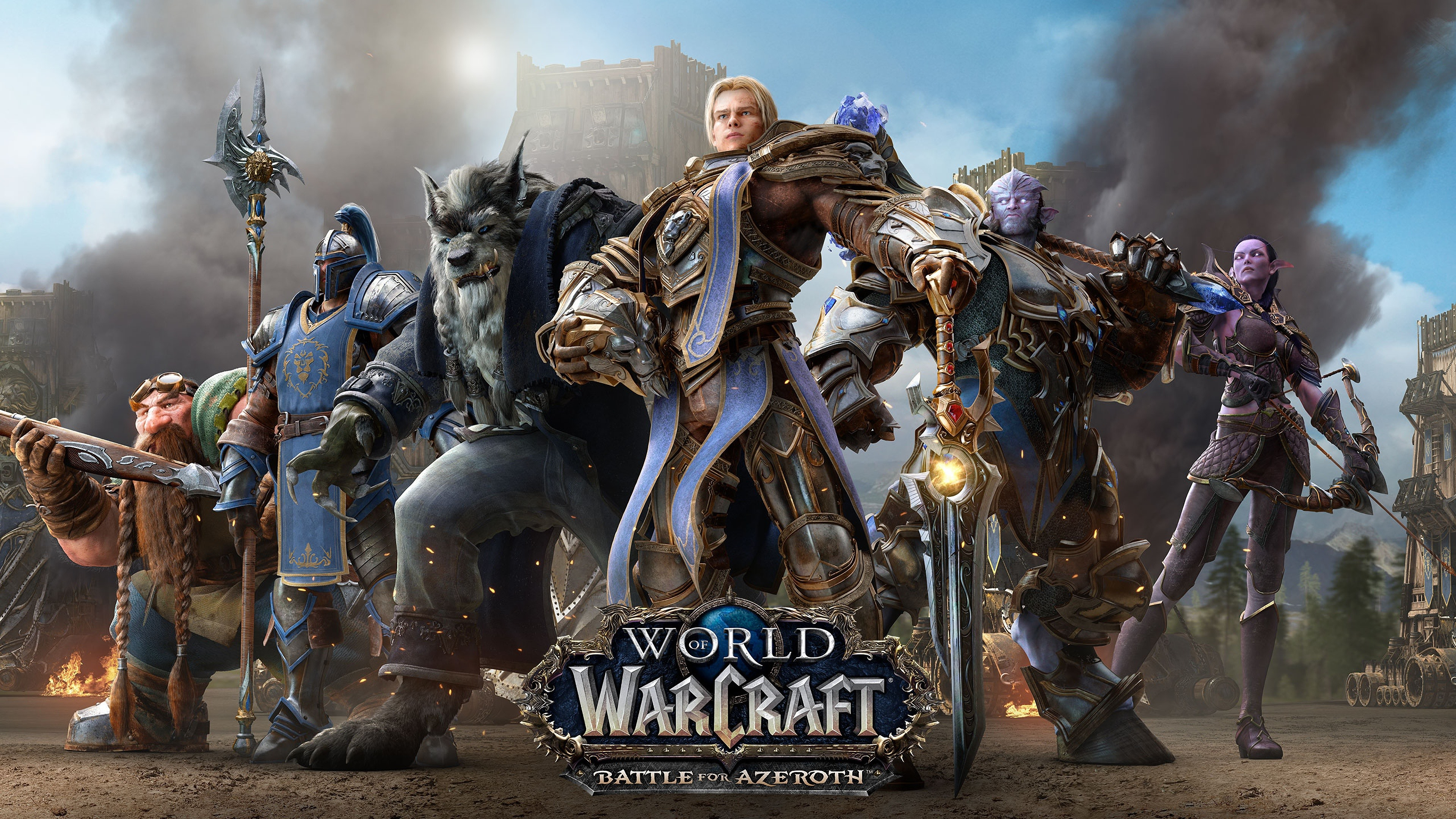 Wallpaper World Of Warcraft Battle For Azeroth Online Games