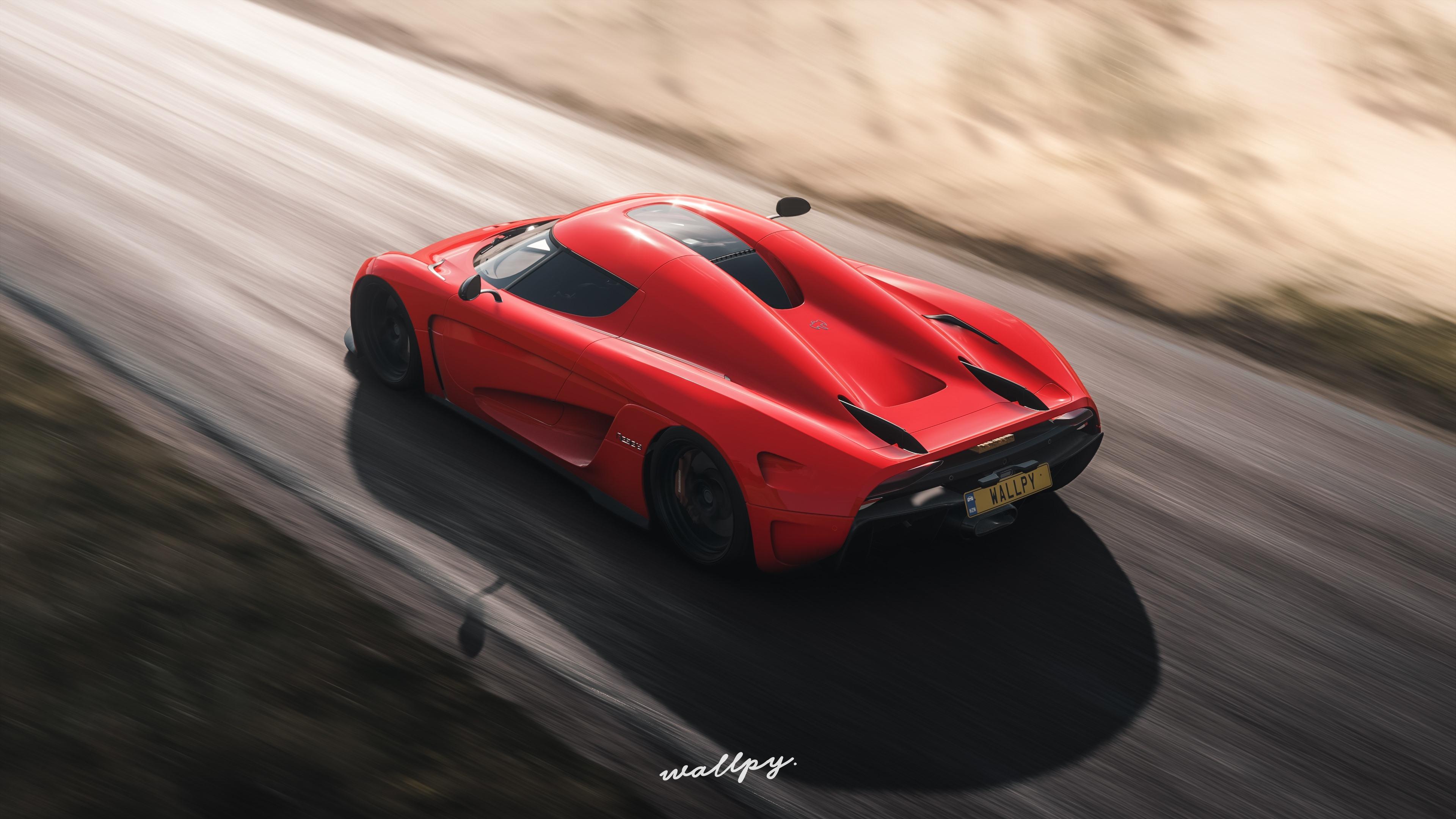 Wallpaper Forza Horizon 4 Red Koenigsegg Supercar Speed