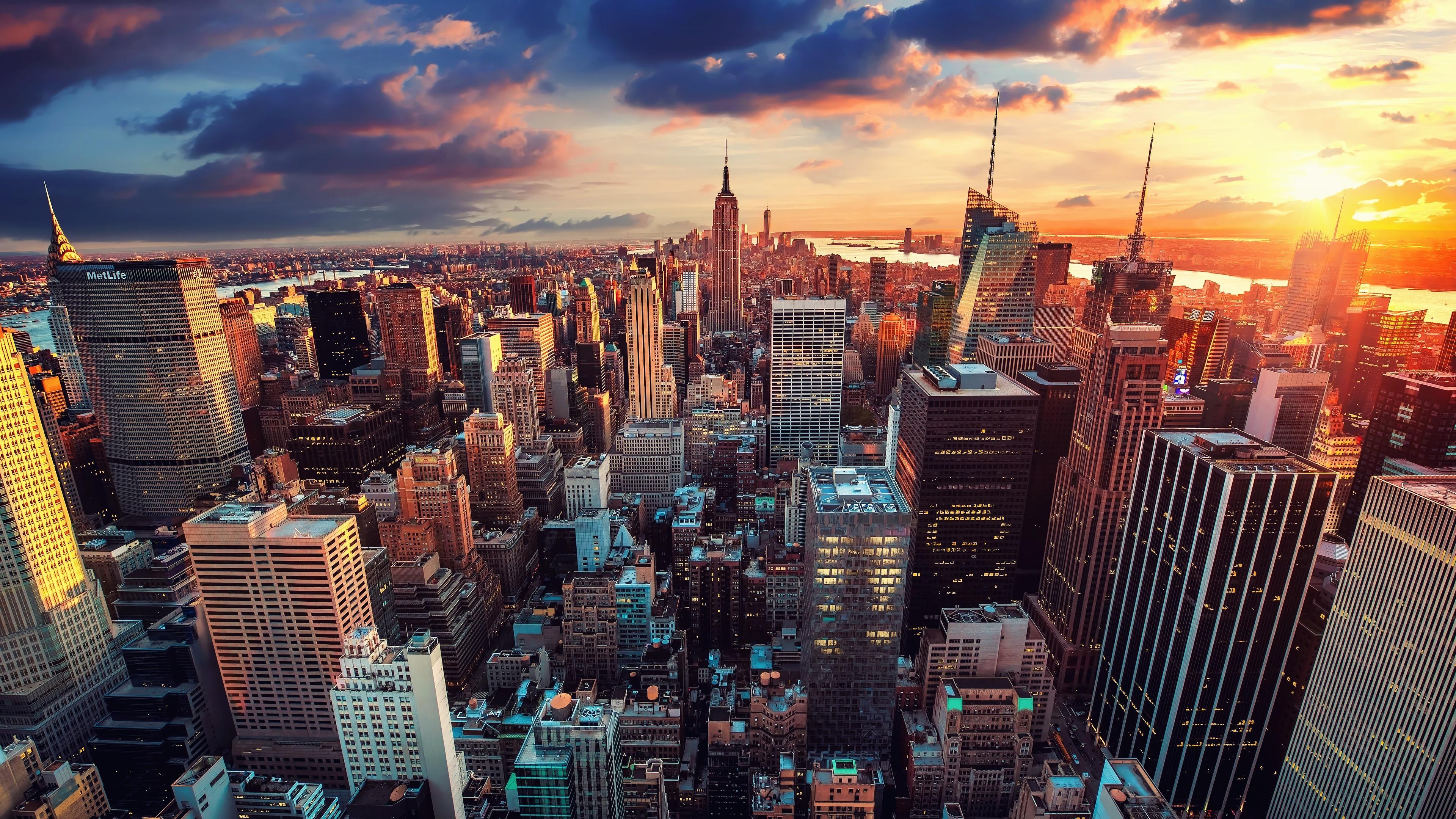 Обои state new york, небоскребы, утро, америка. Города foto 8