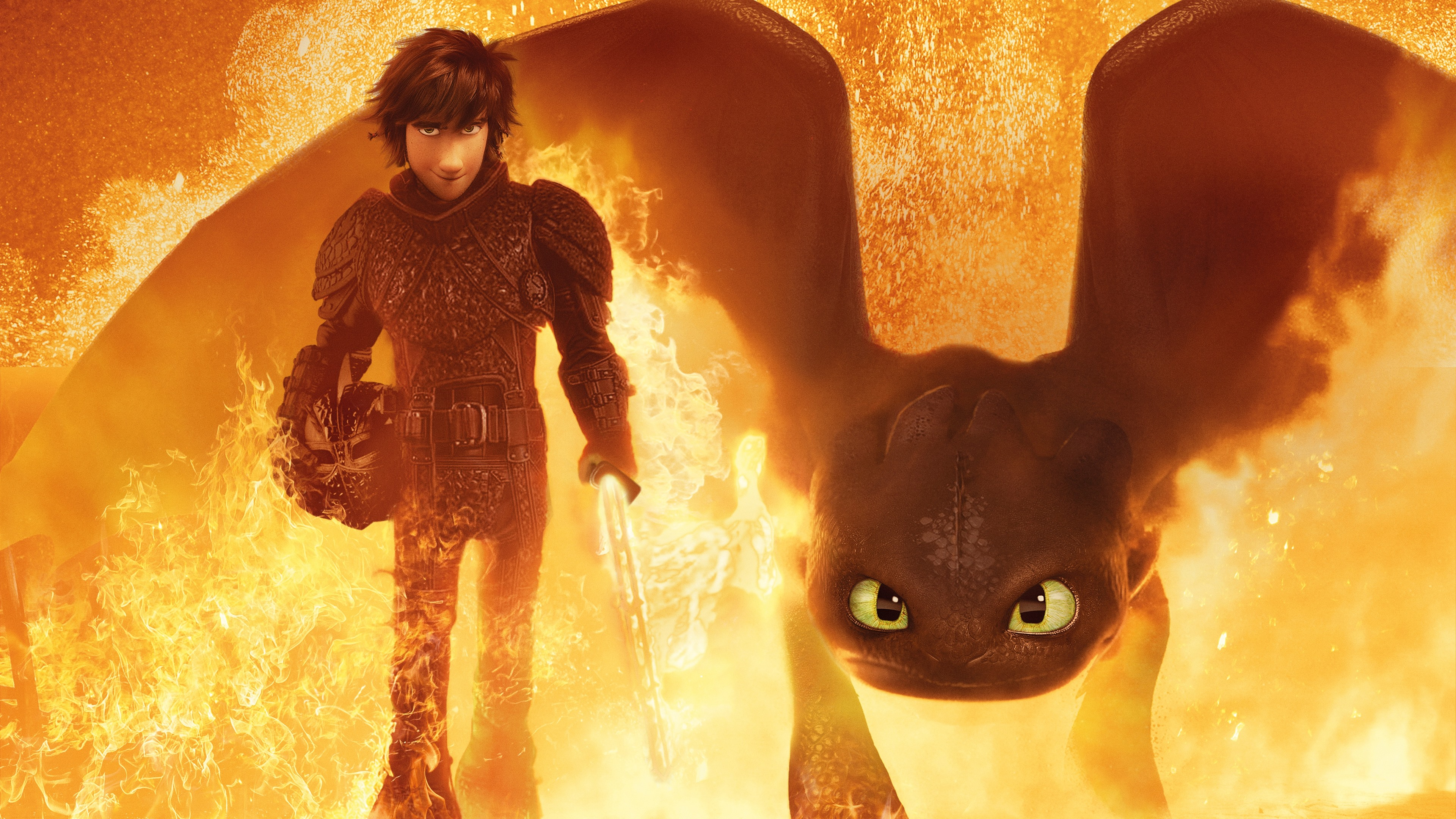 Wallpaper How To Train Your Dragon 3 Fire Sword 3840x2160 Uhd 4k