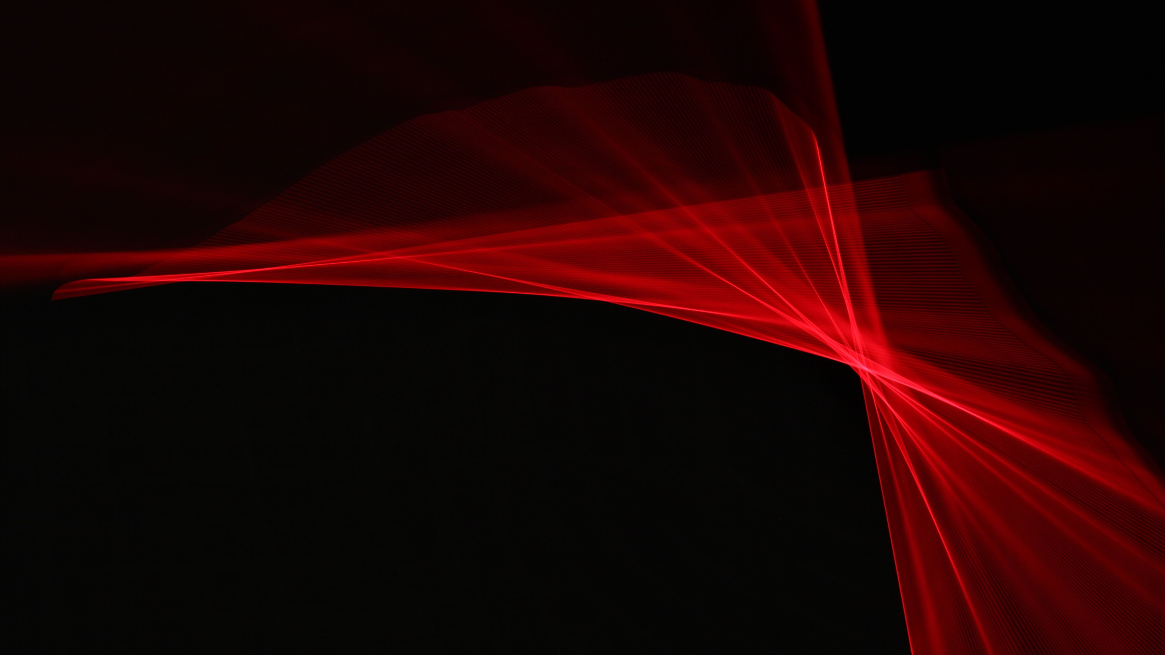 Wallpaper Red Rays Abstract Black Background 3840x2160 Uhd