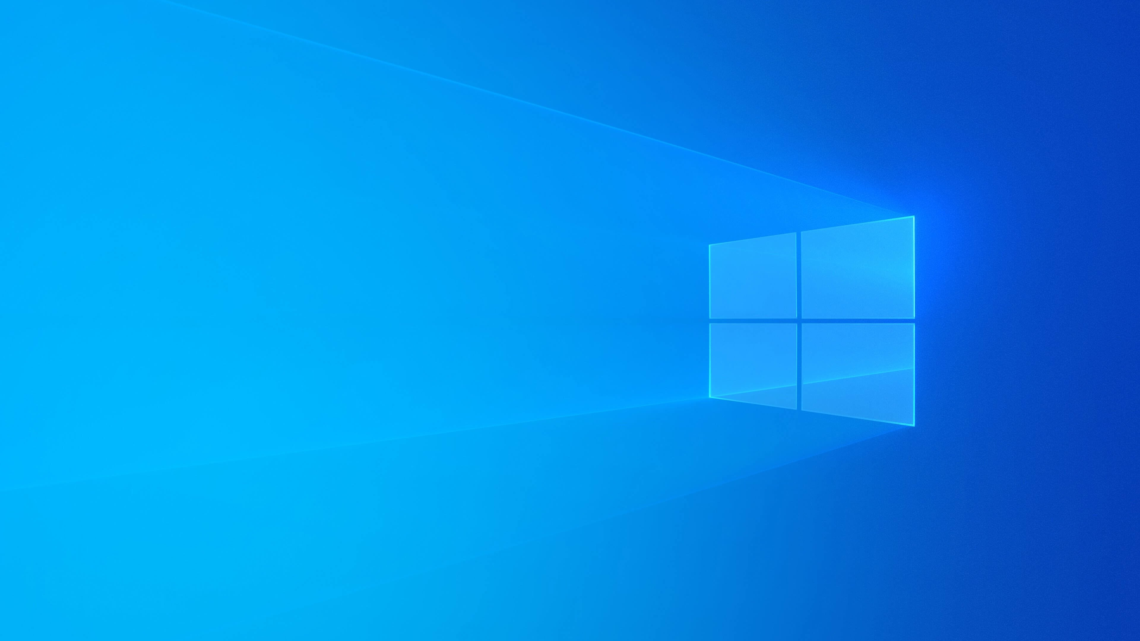 Wallpaper Windows 10 Blue Background Light Abstract