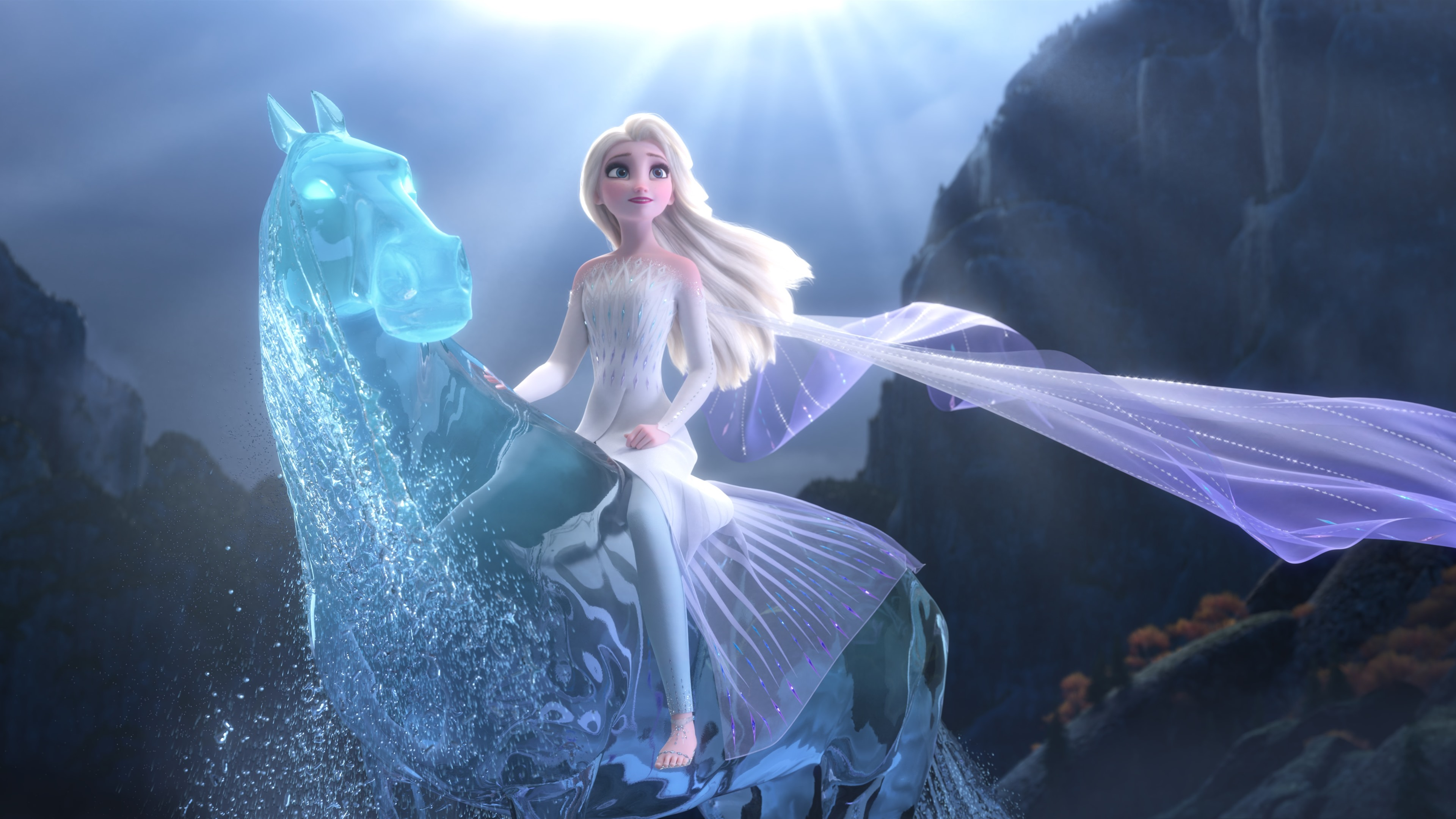 Wallpaper Elsa, Frozen 2, magic water horse 3840x2160 UHD ...