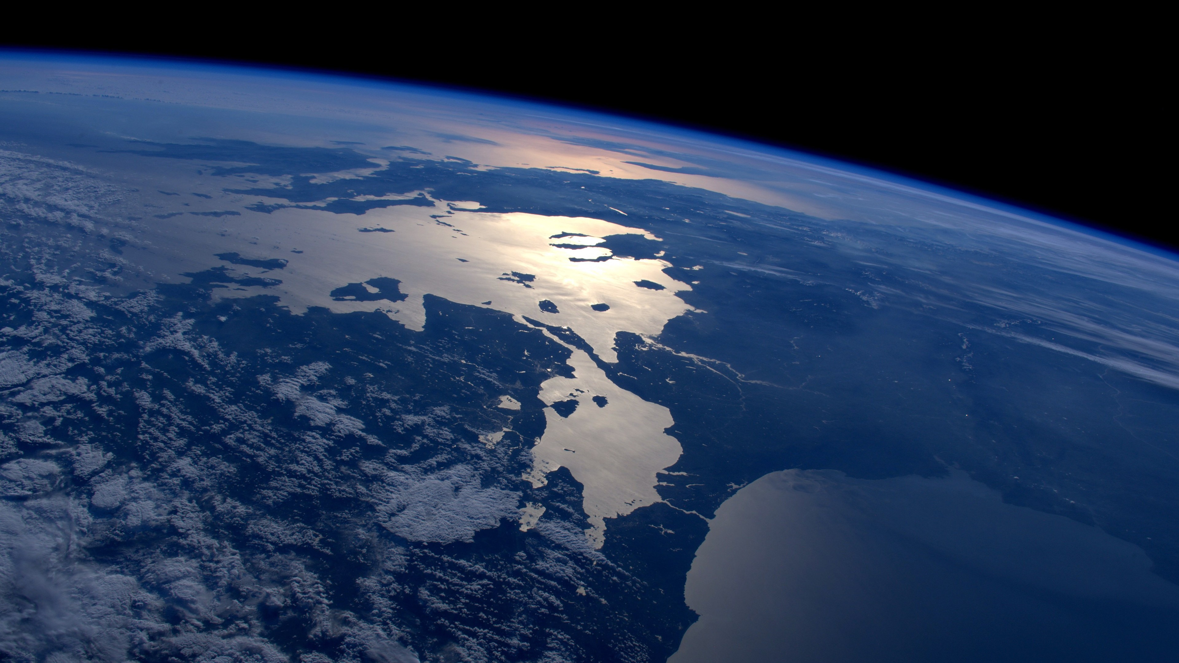 Wallpaper Earth Top View Space Land Sea 3840x2160 Uhd 4k Picture Image