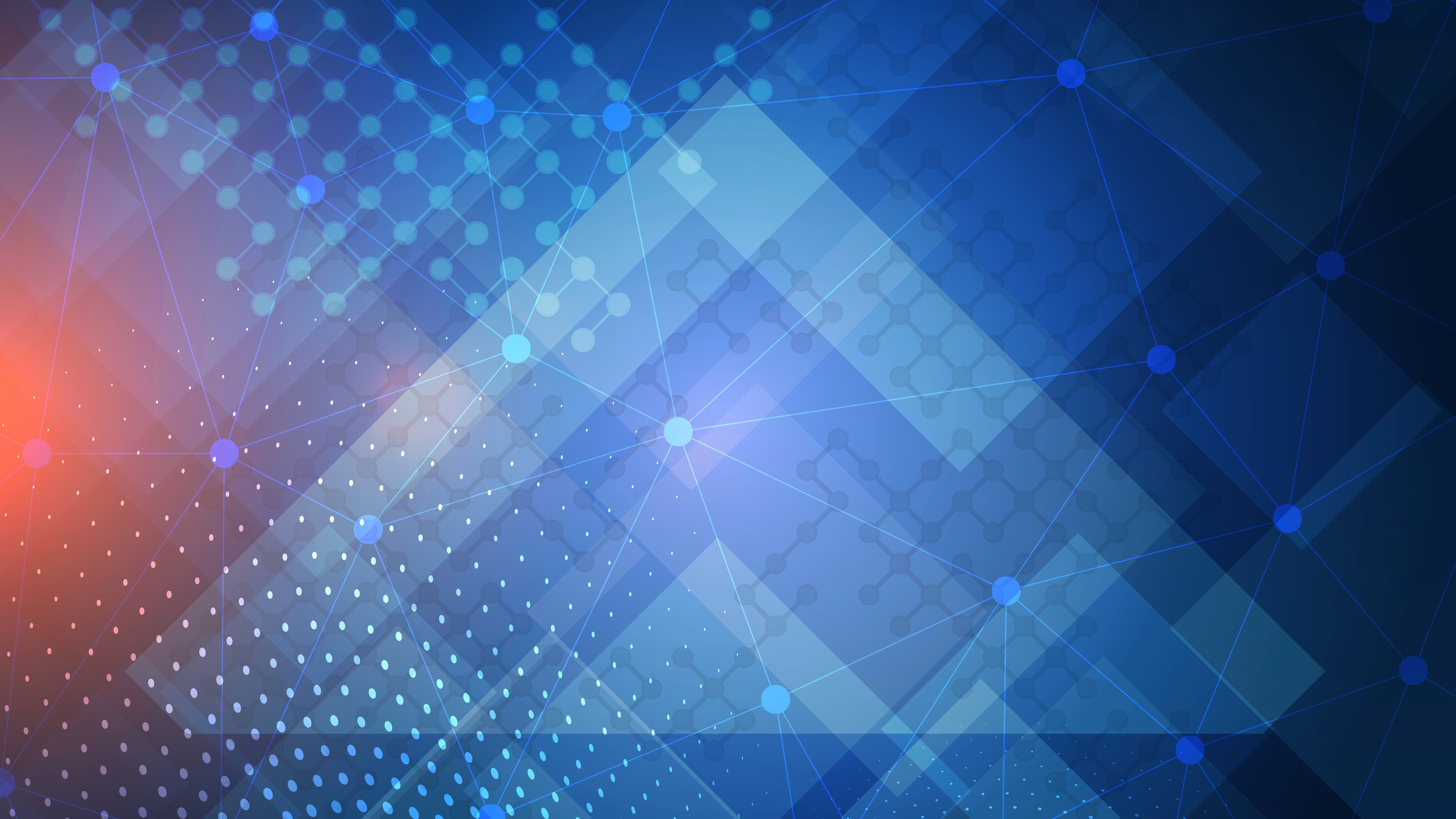 Wallpaper Abstract geometric background, lines, dots, blue ...