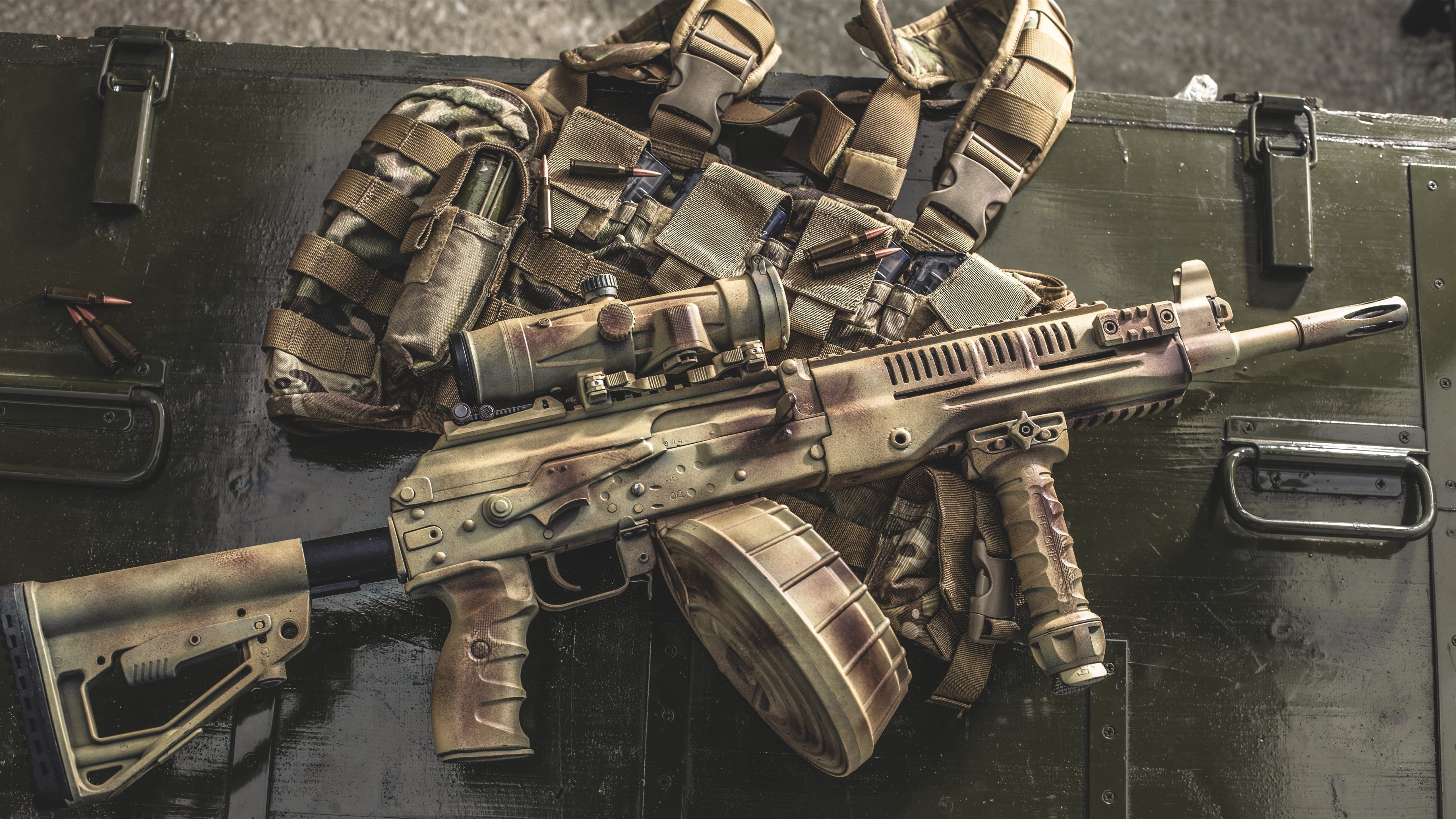 Wallpaper Rpk 16 Lmg Light Machine Gun 5120x2880 Uhd 5k