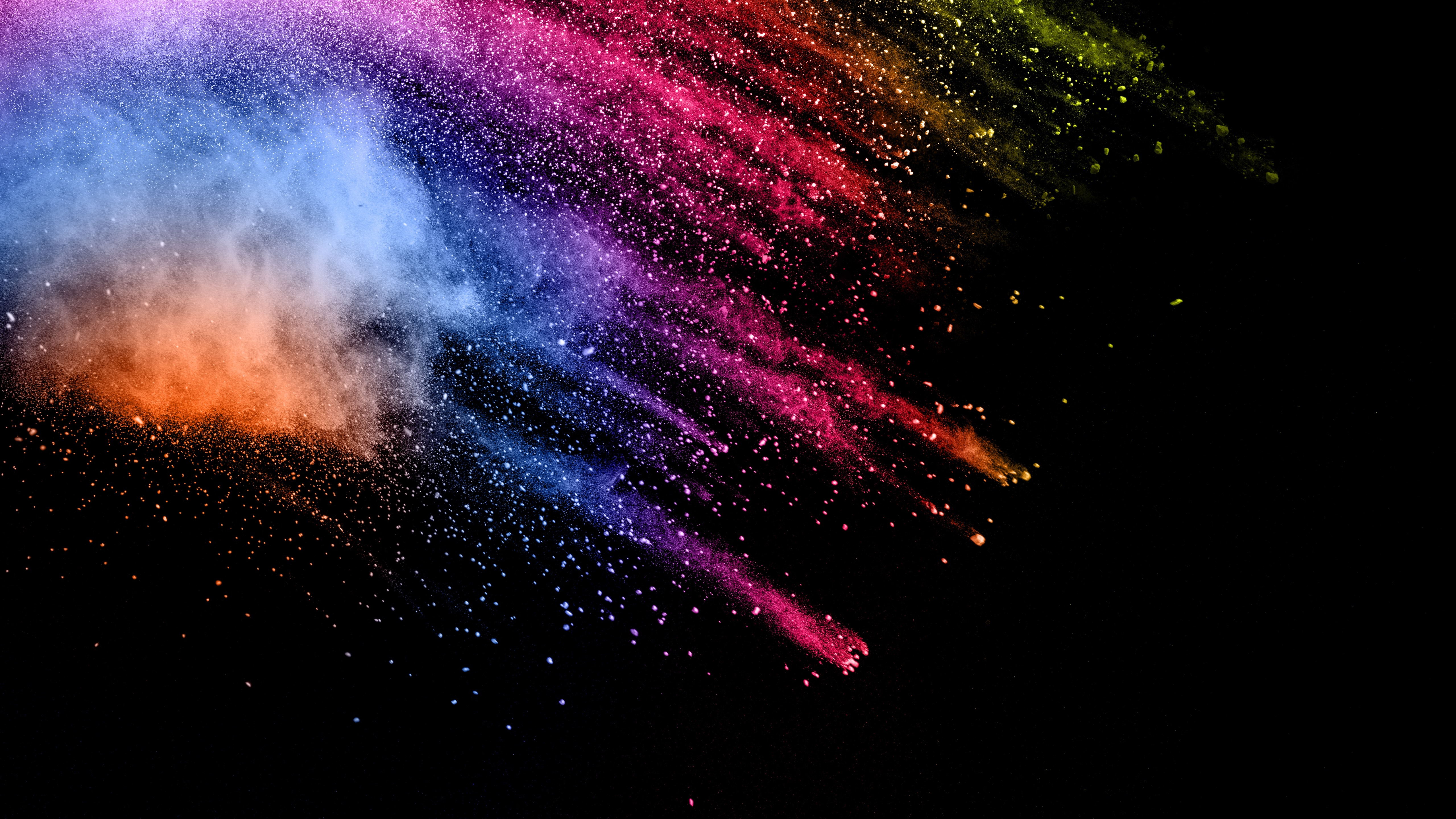 Wallpaper Paint Splash Colorful Abstract Picture 5120x2880