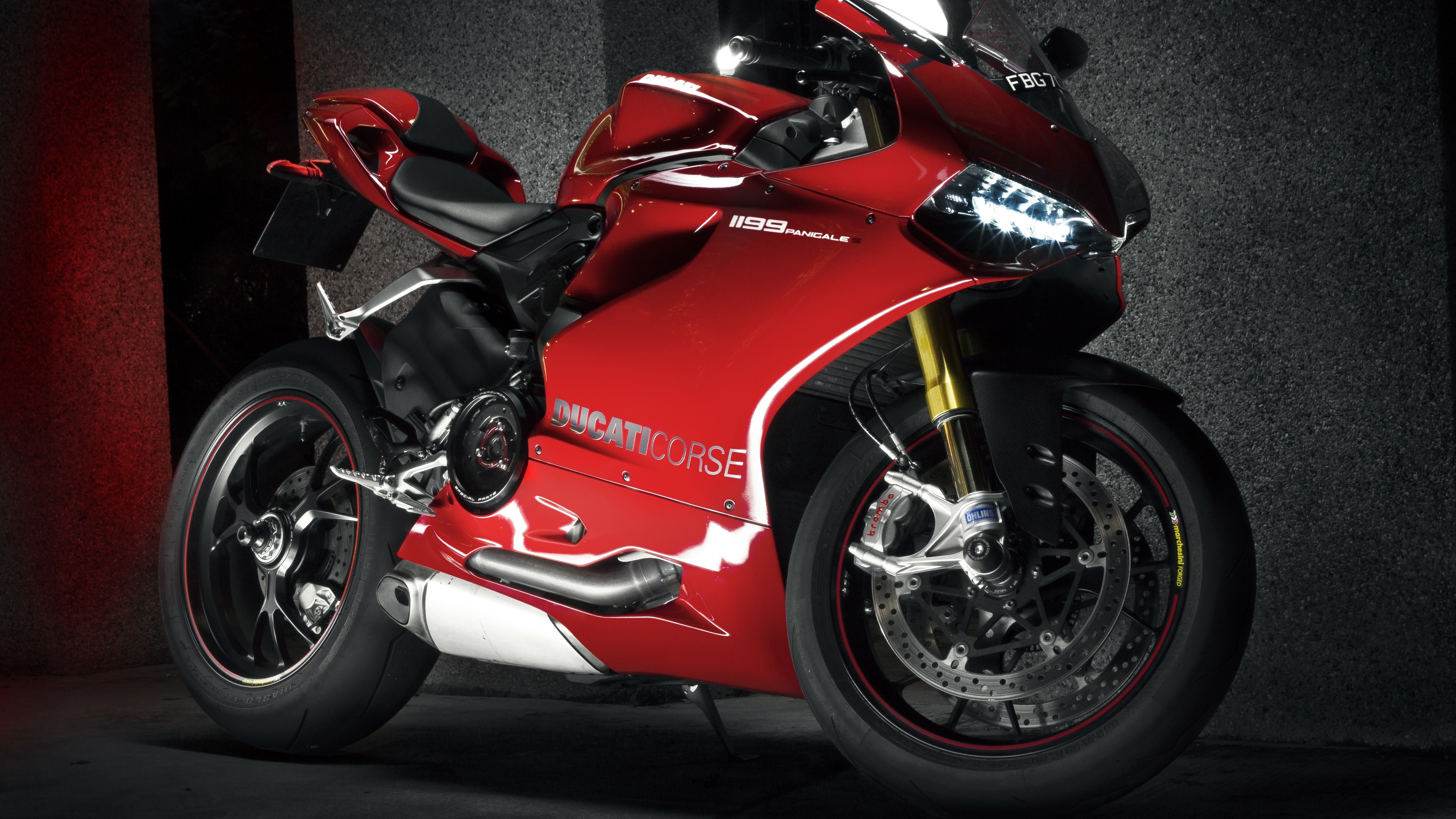 Fondos De Pantalla Ducati 1199 Moto Roja 5120x2880 Uhd 5k Imagen