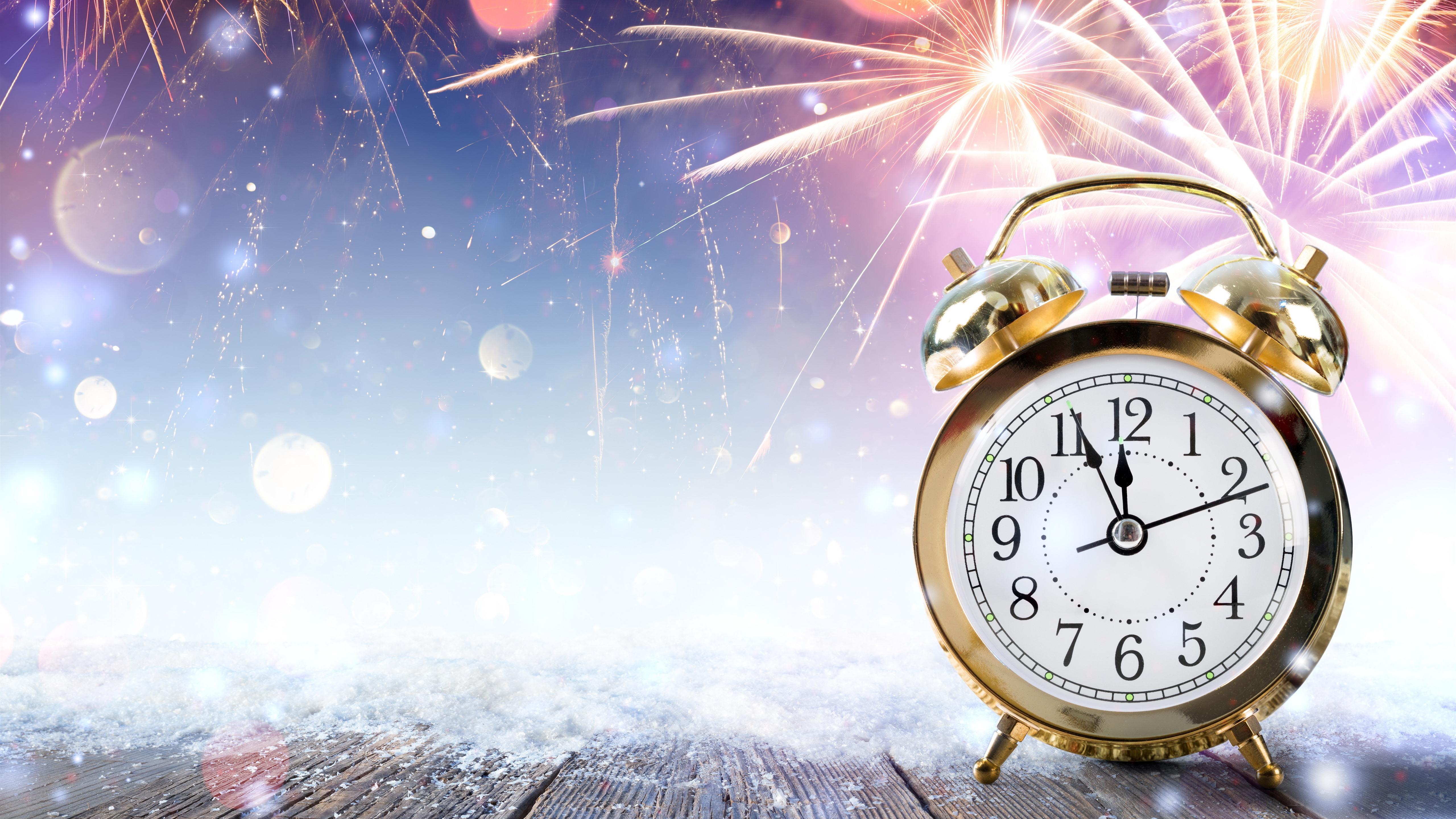 Картинки новый год с часами