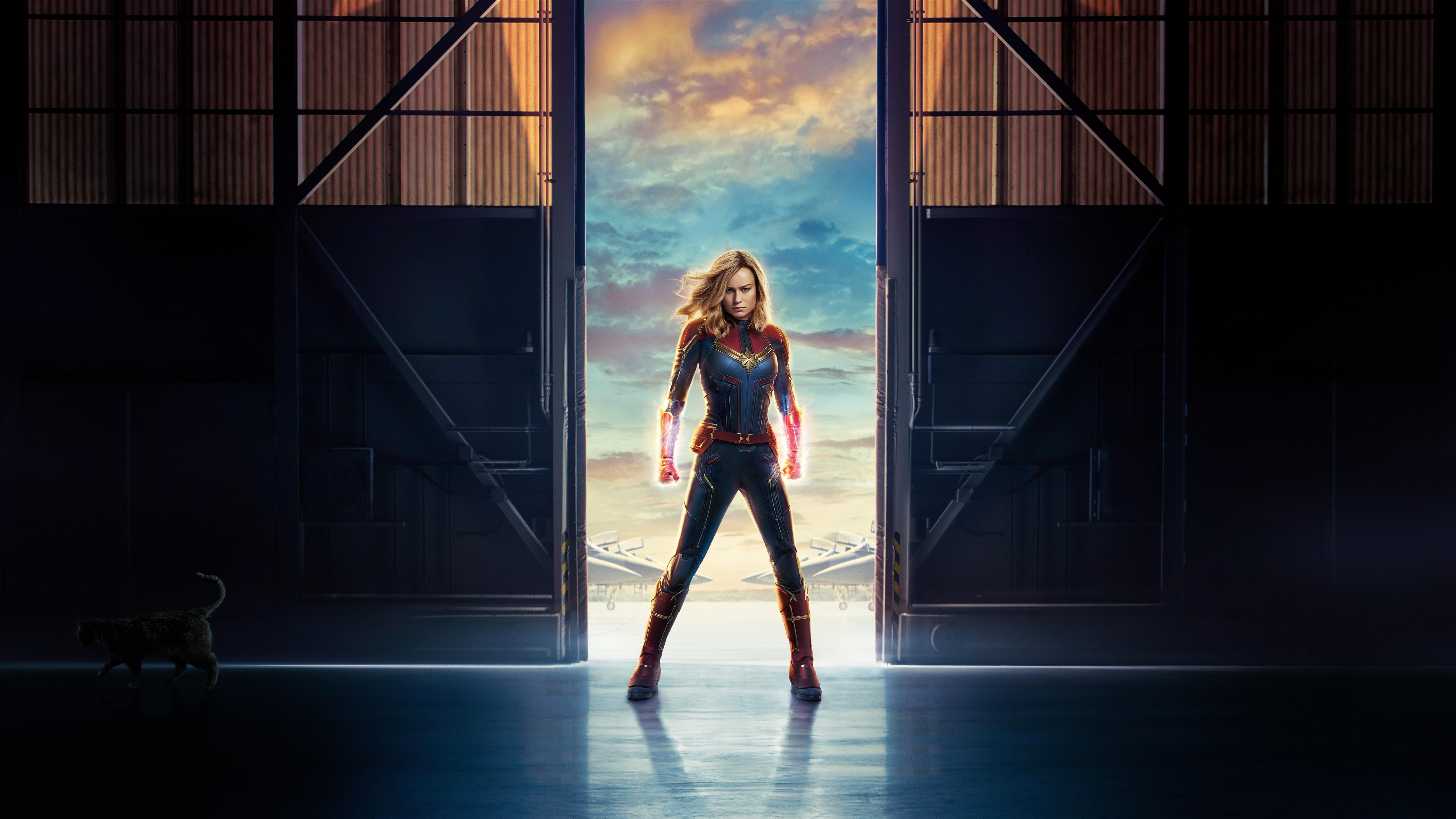 Movie Poster 2019: Captain Marvel, Brie Larson, Marvel Movie 2019 1242x2688