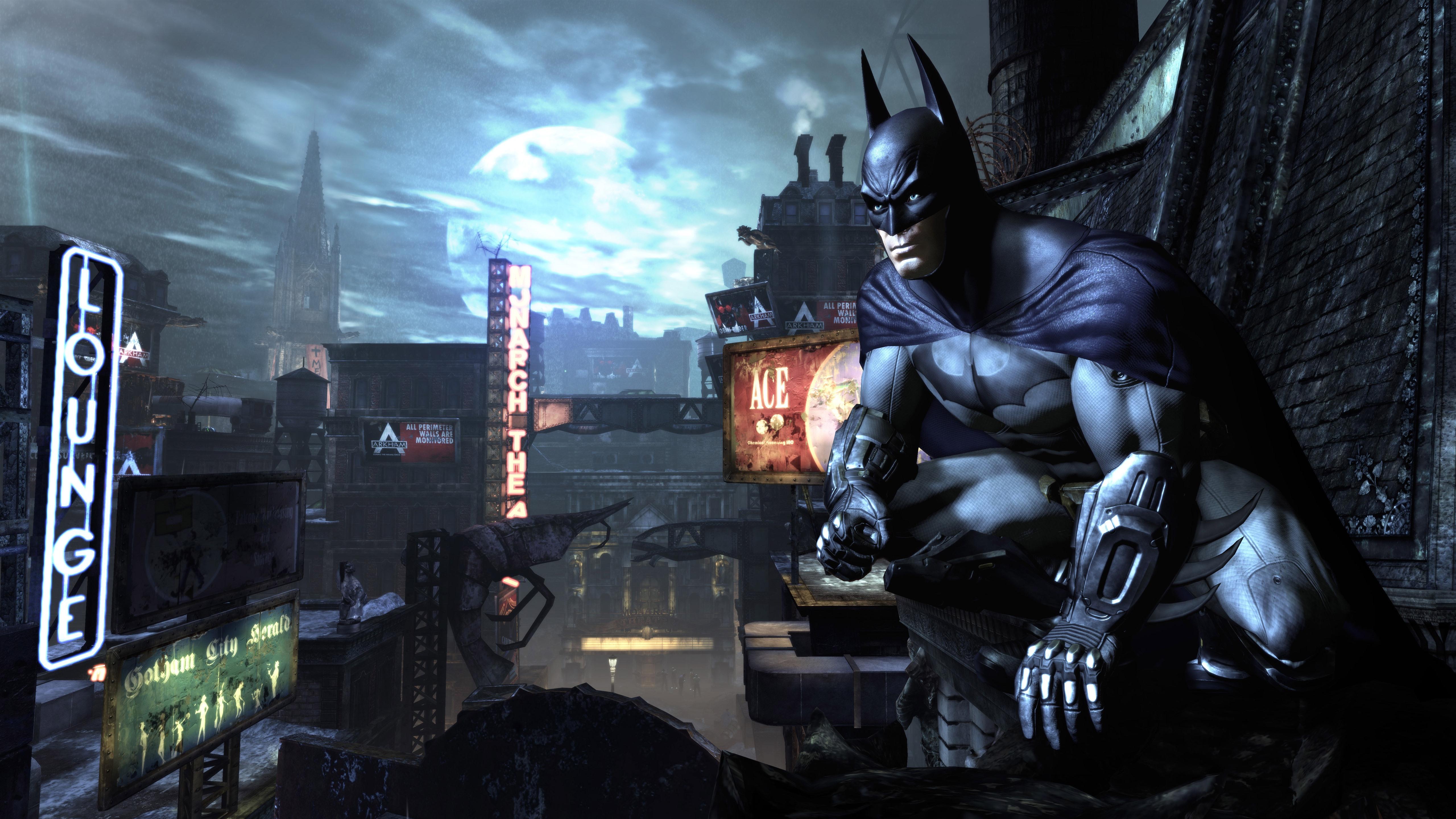 壁紙 バットマン 都市 夜 Pc ゲーム 5120x2880 Uhd 5k 無料の