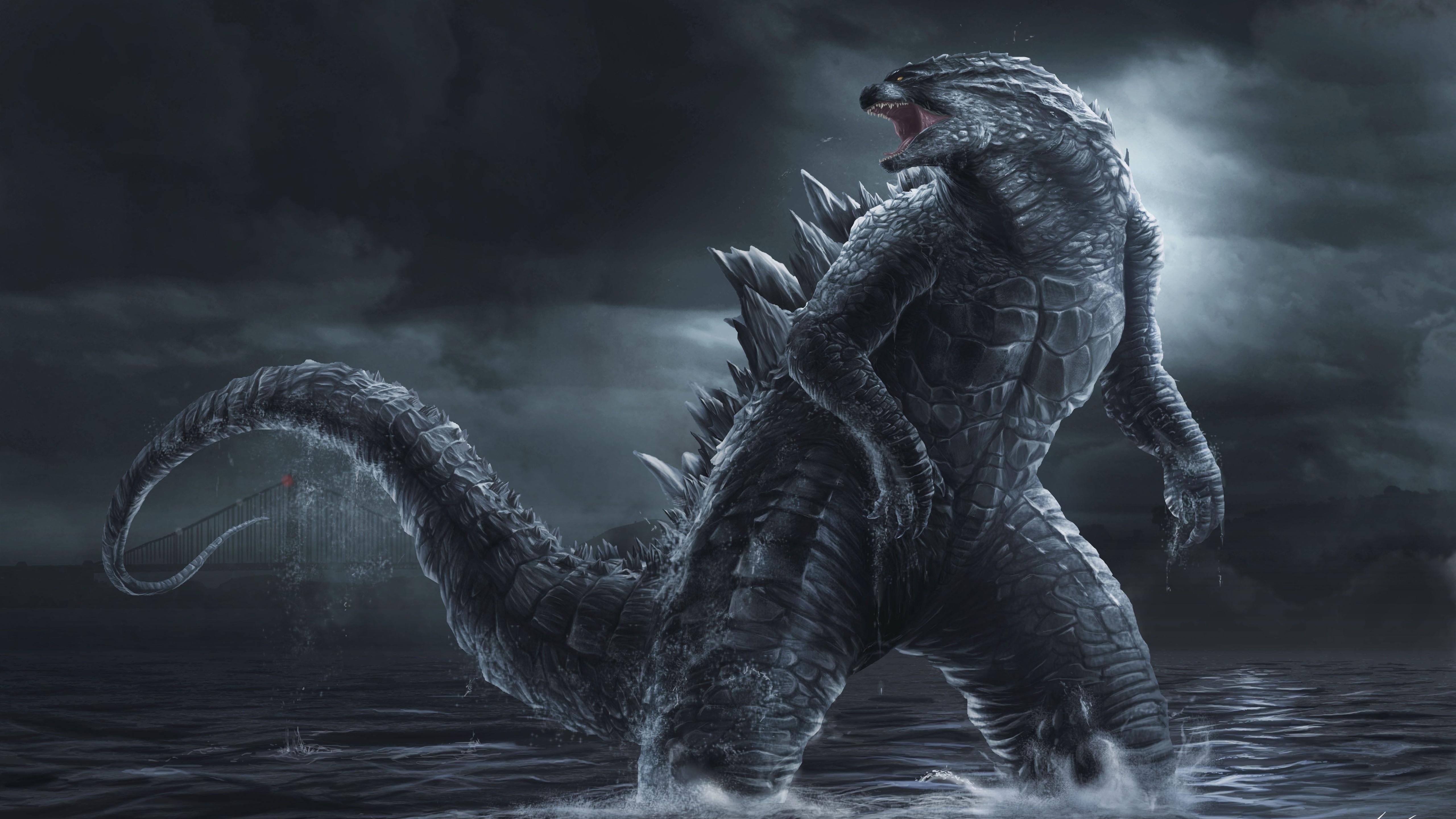 Wallpaper Godzilla Art Picture 5120x2880 Uhd 5k Picture Image