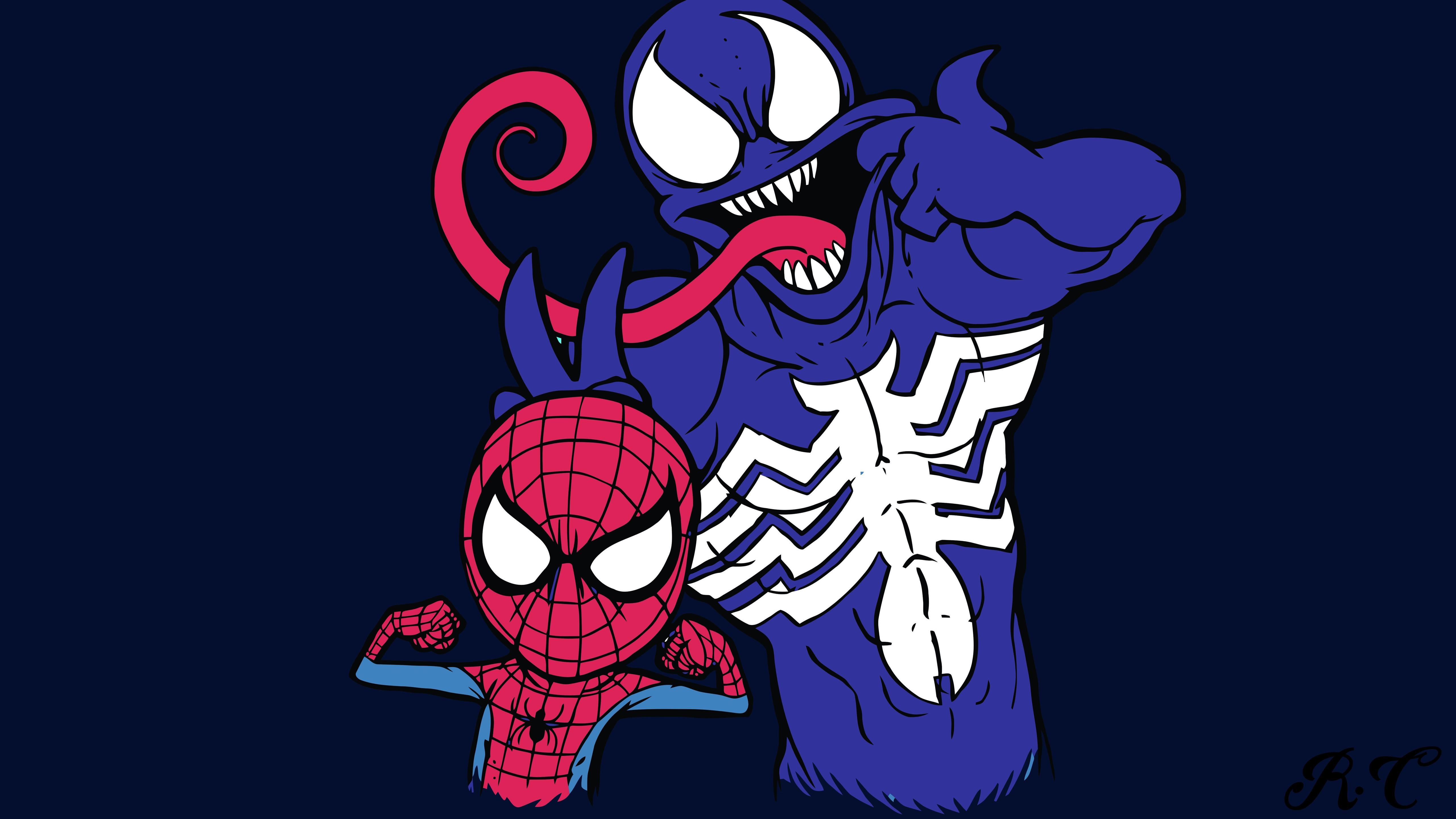 スパイダーマンとヴェノム Dcコミック 1242x2688 Iphone 11 Pro Xs